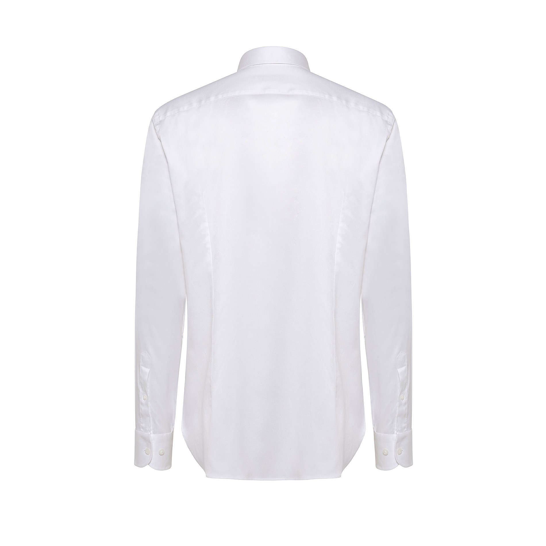 Camicia colletto francese regular fit in cotone, Bianco, large image number 1