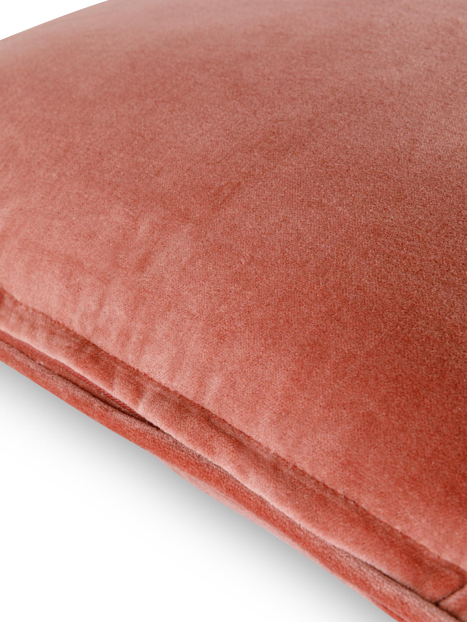 Cuscino velluto di cotone tinta unita 45x45cm, Rosa, large image number 2