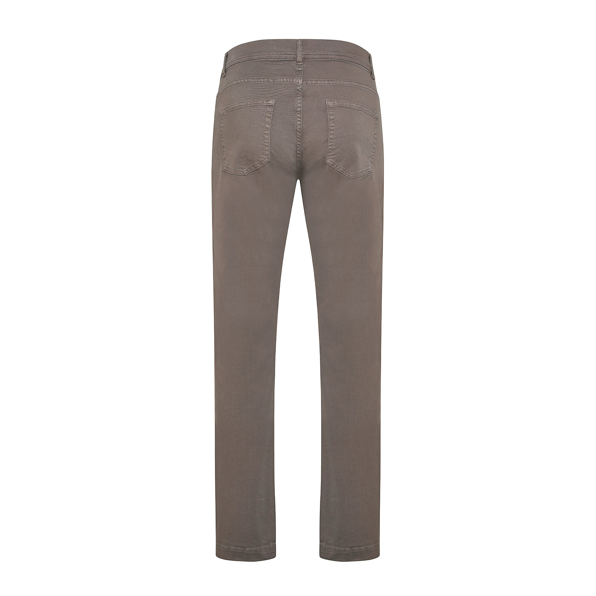 Pantalone cotone stretch 5 tasche JCT, Beige scuro, large image number 1