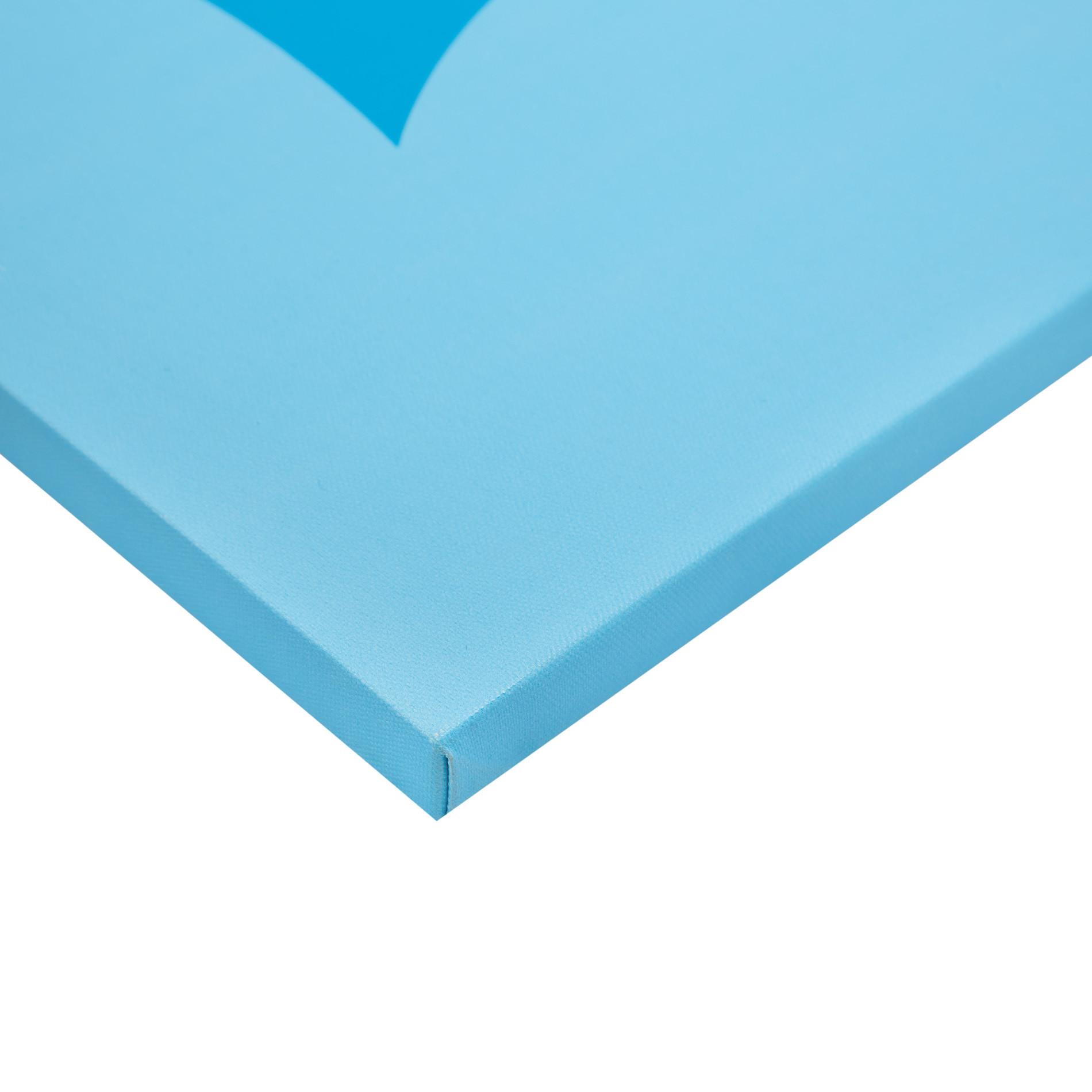 Tela con stampa fotografica occhiali, Blu, large image number 1