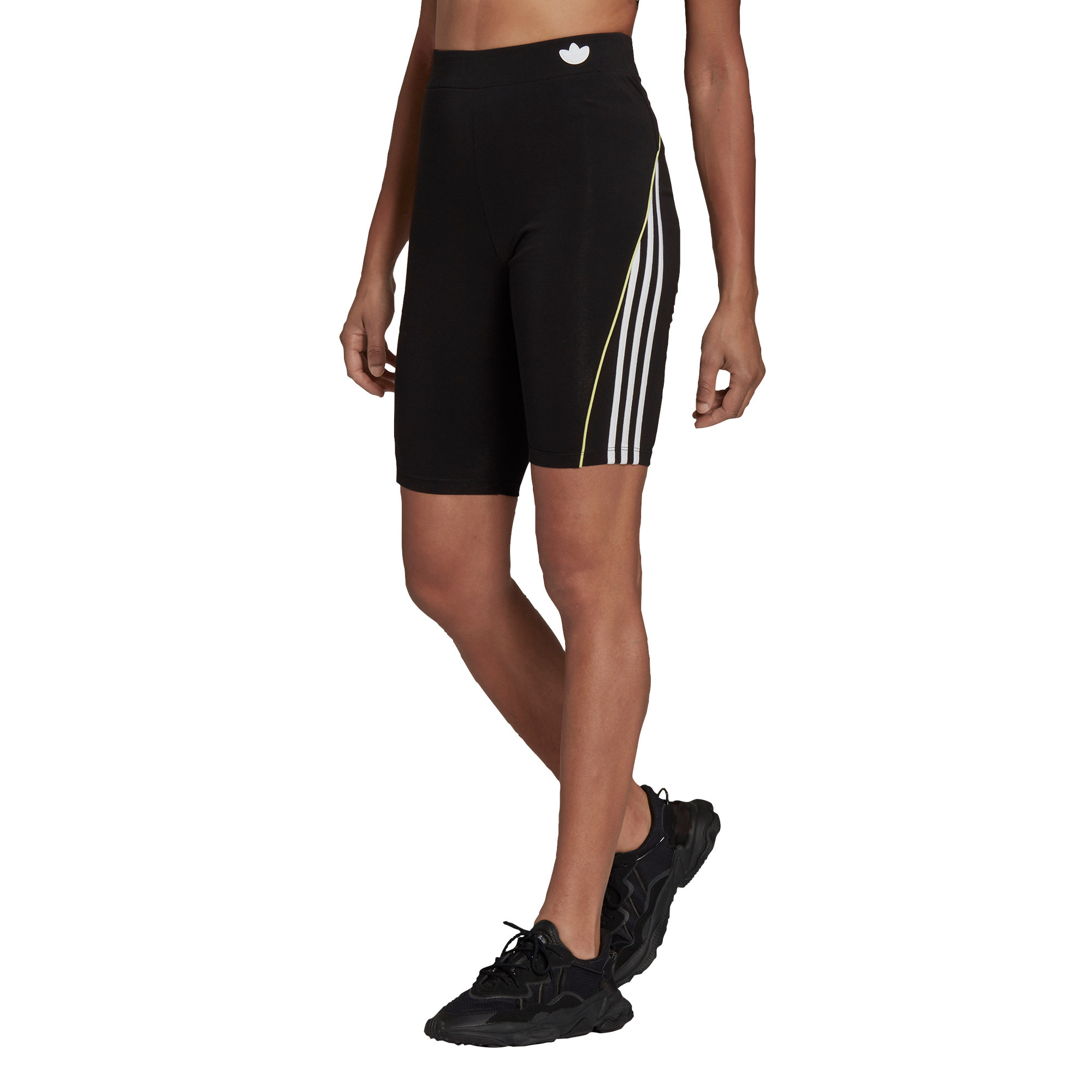 Shorts a vita alta con bordino corto, Nero, large image number 2