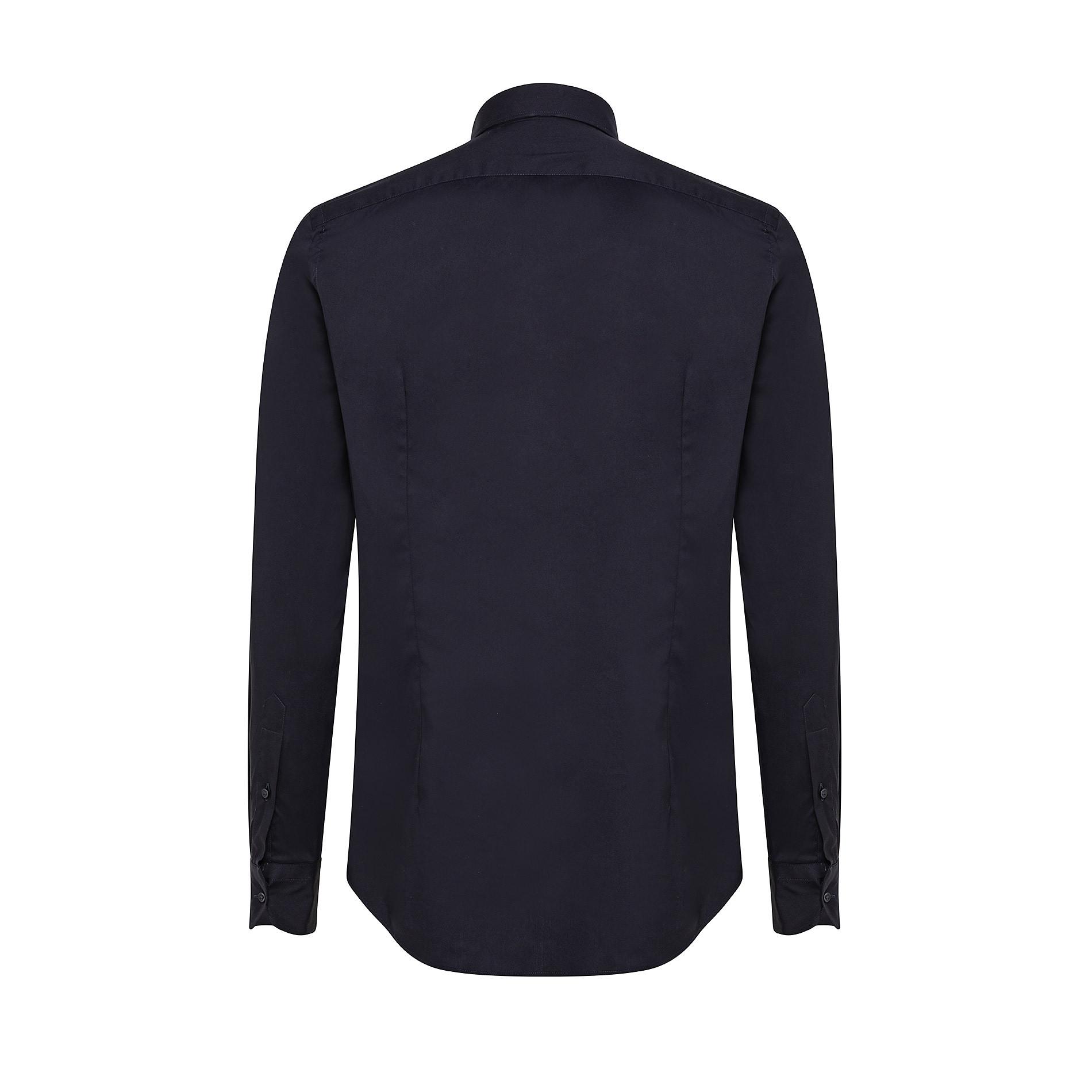 Camicia button-down popeline di cotone, Blu scuro, large image number 1