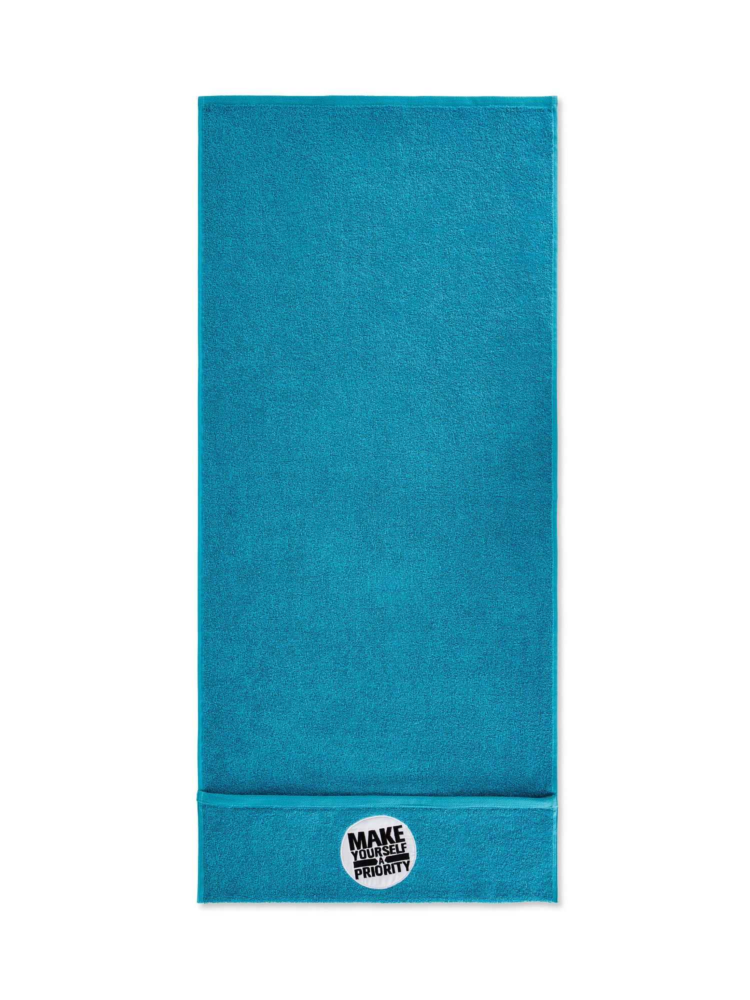 Asciugamano da palestra e fitness, Azzurro, large image number 1