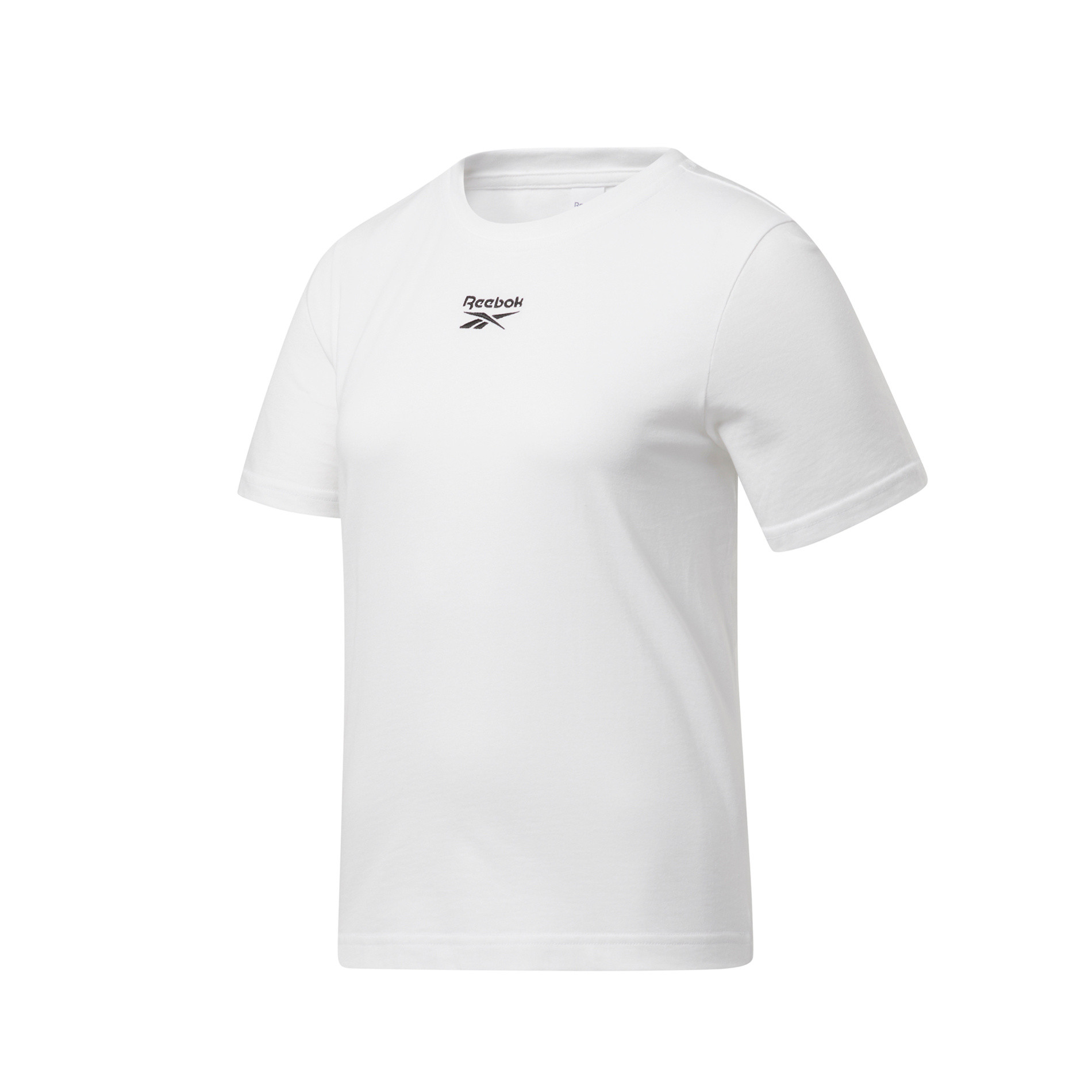 T-shirt classica con logo, Bianco, large image number 0