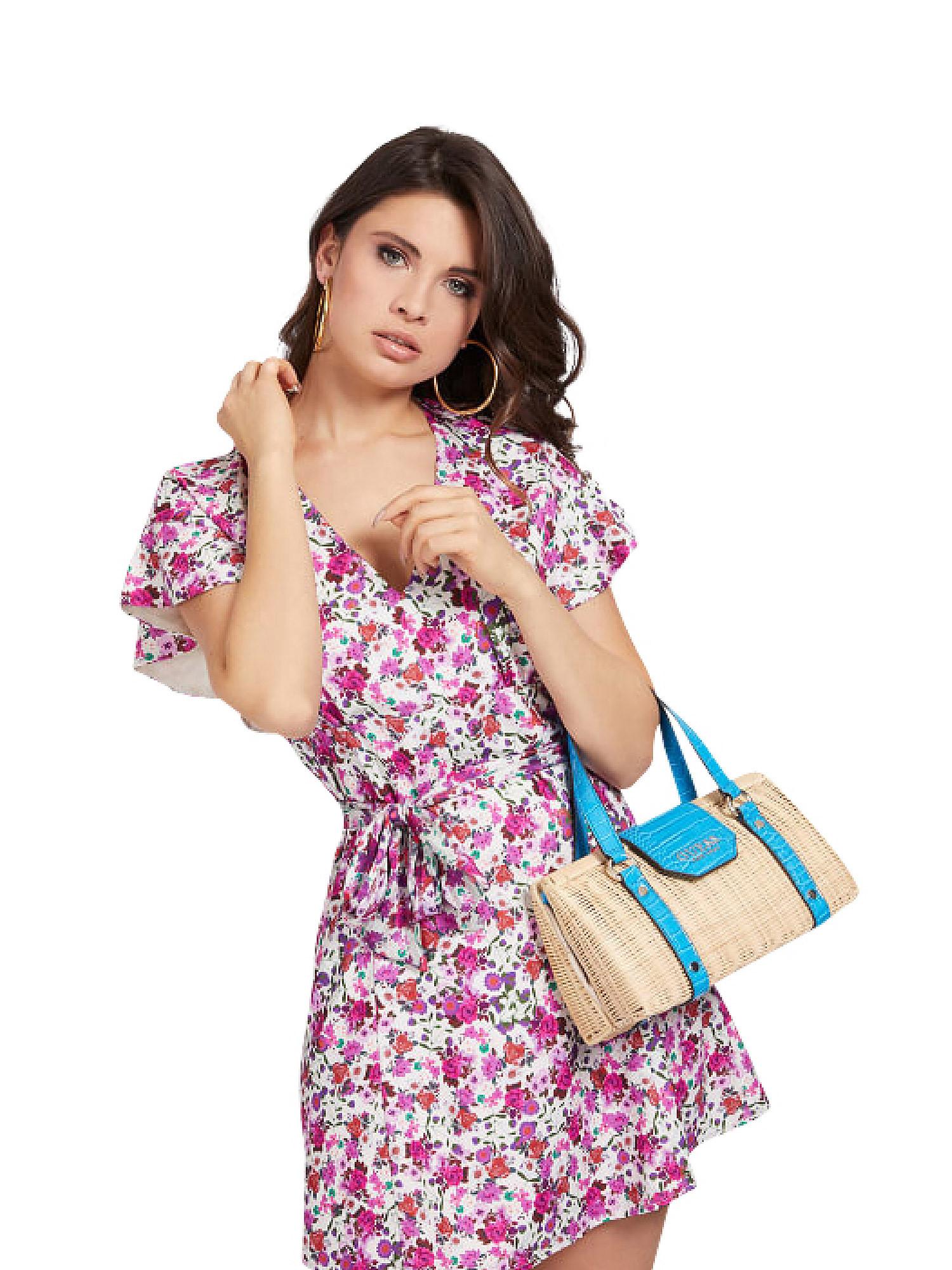 Paloma Satchel Bag, Blu, large image number 3