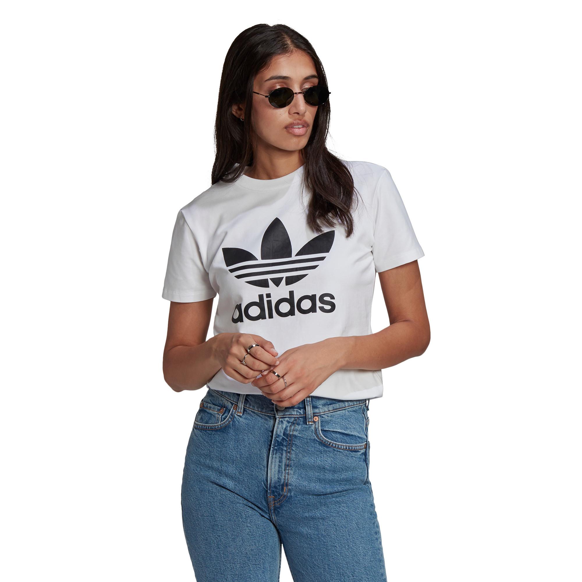 T-shirt adicolor Classics Trefoil, Bianco, large image number 2
