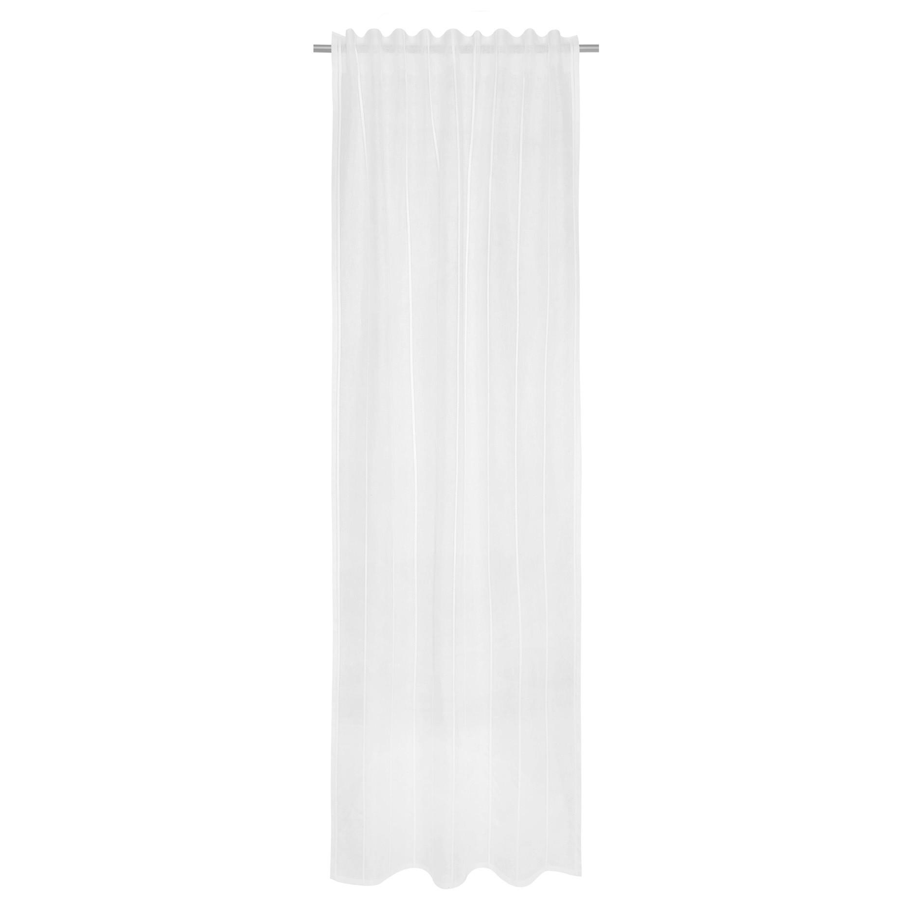 Tenda misto lino con applicazioni, Bianco, large image number 2