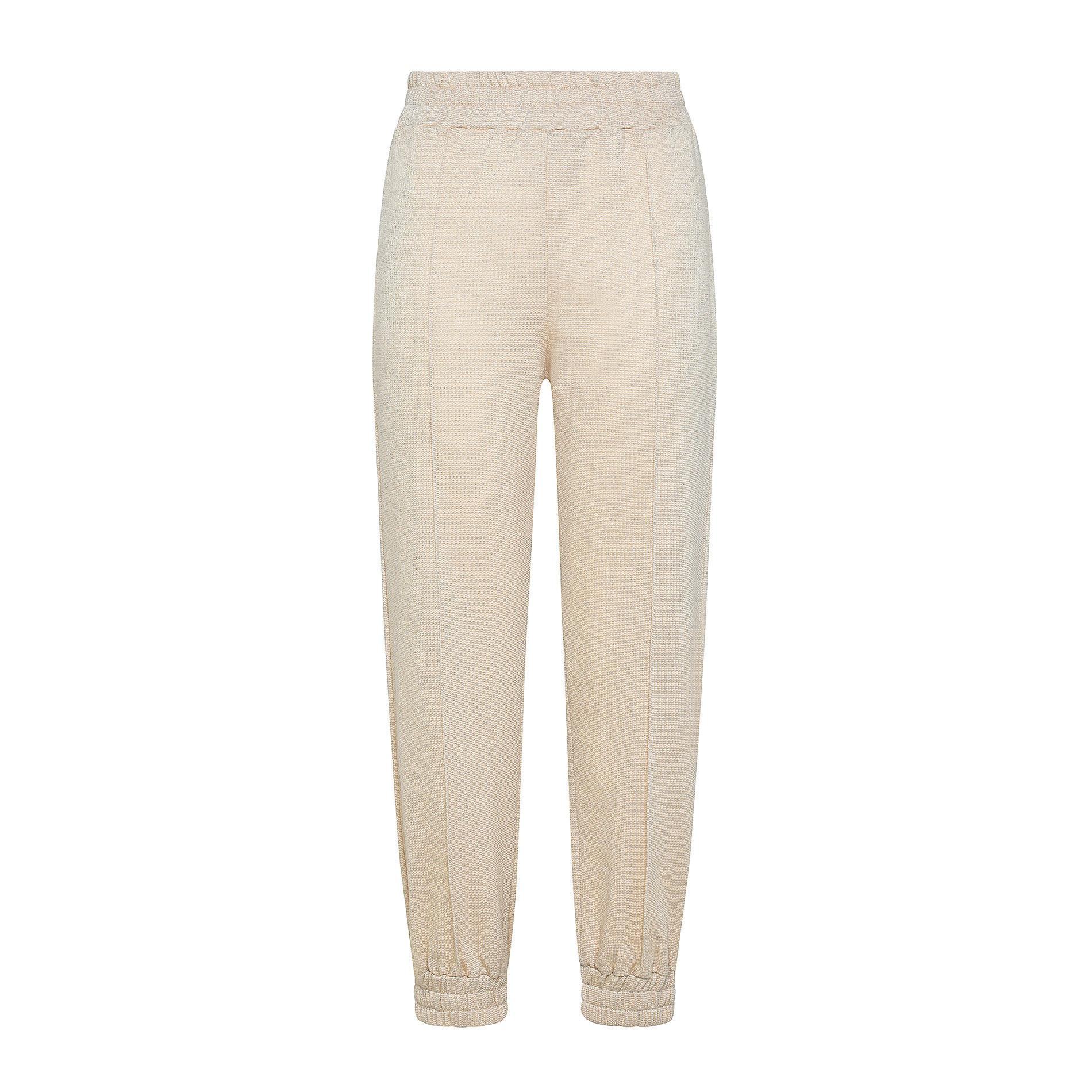 Pantalone tessuto leggero lurex Koan, Beige chiaro, large image number 0
