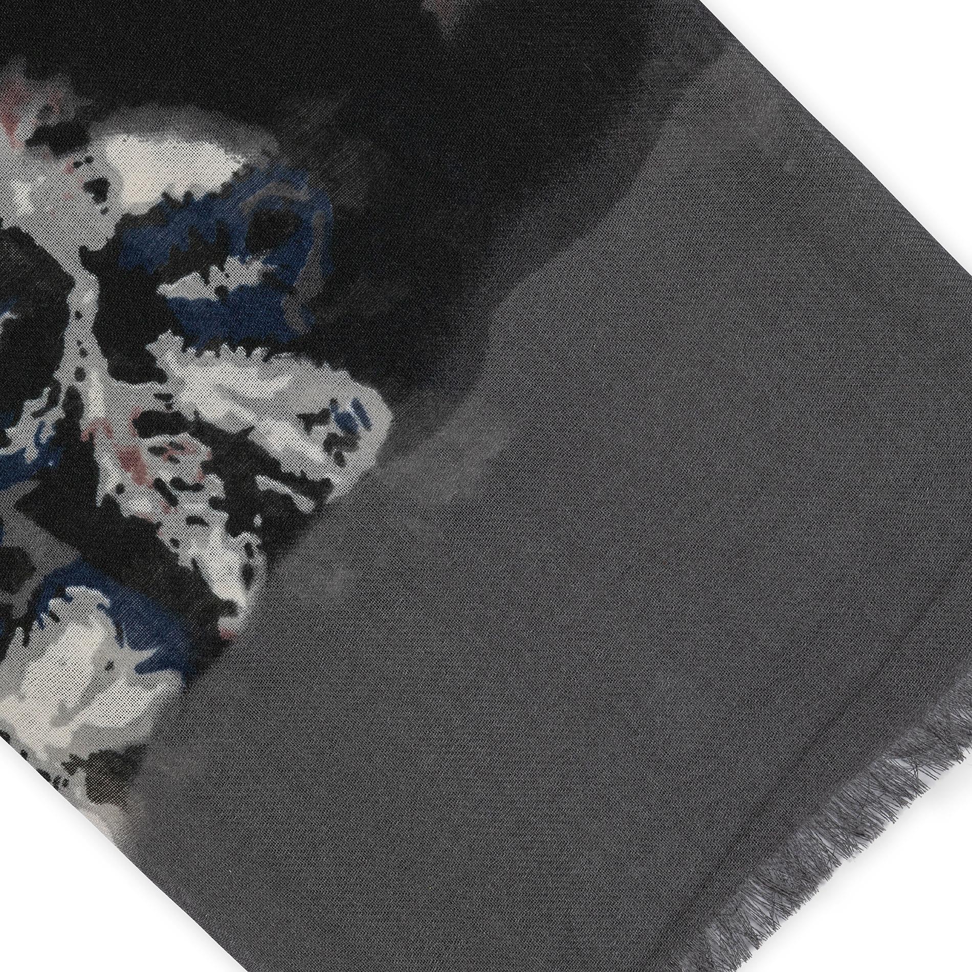 Sciarpa pura viscosa a fiori Koan, Blu, large image number 1