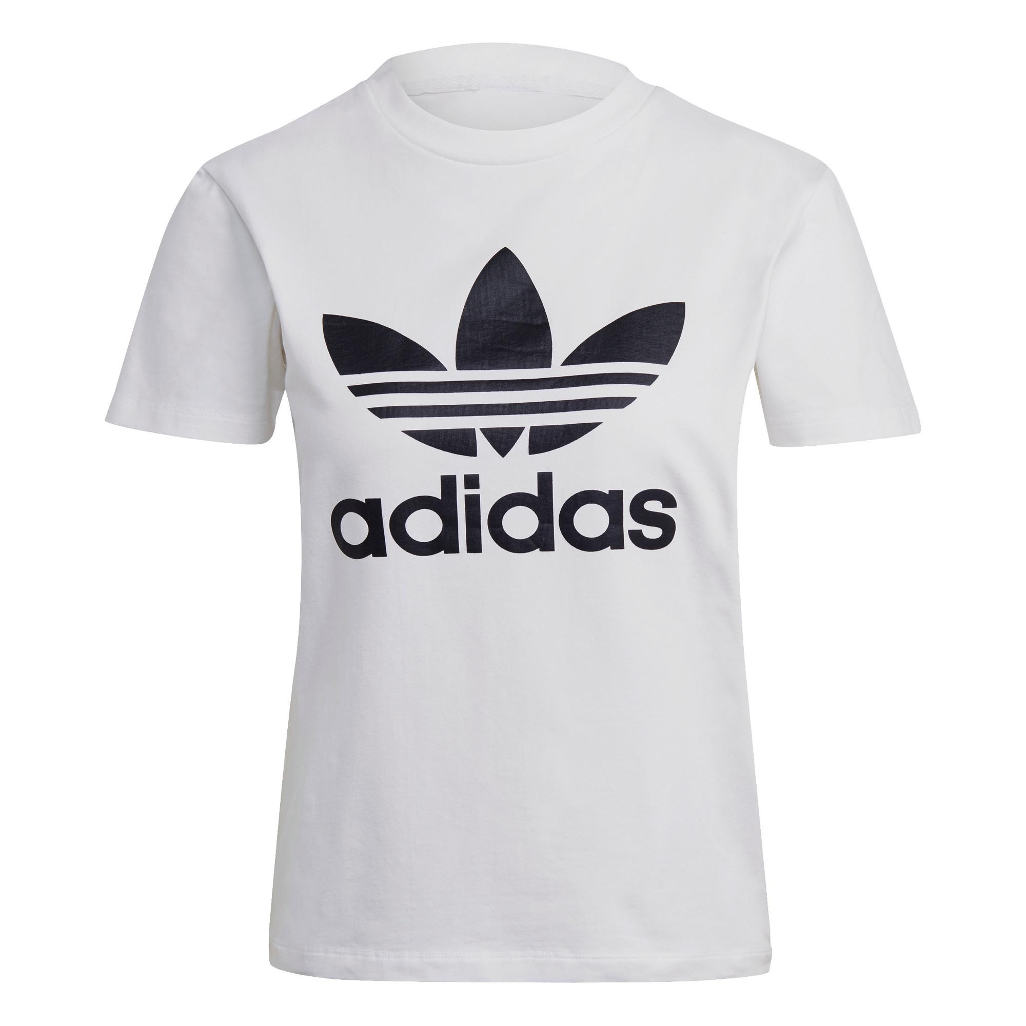 T-shirt adicolor Classics Trefoil, Bianco, large image number 0