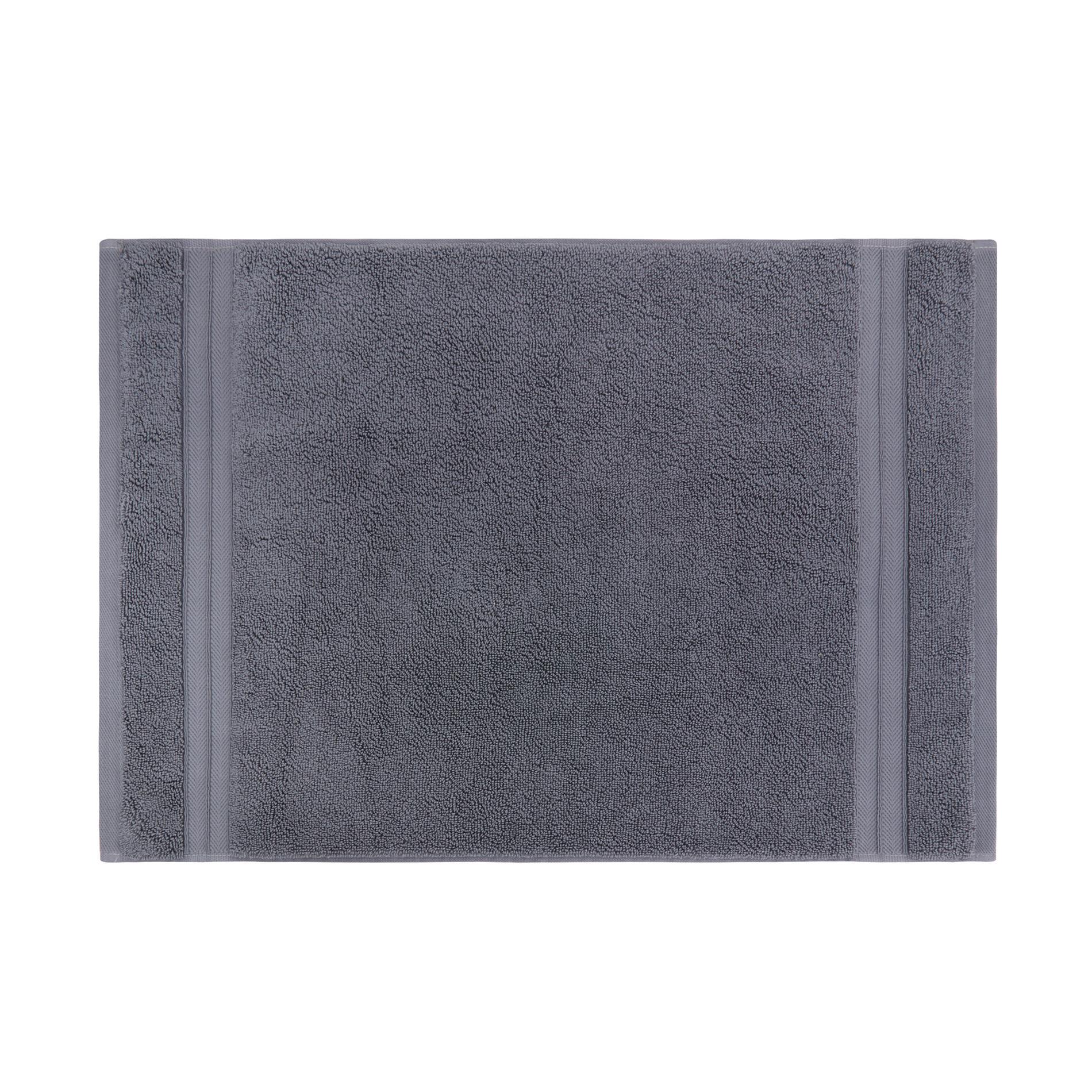 Asciugamano puro cotone tinta unita Thermae, Grigio scuro, large image number 2