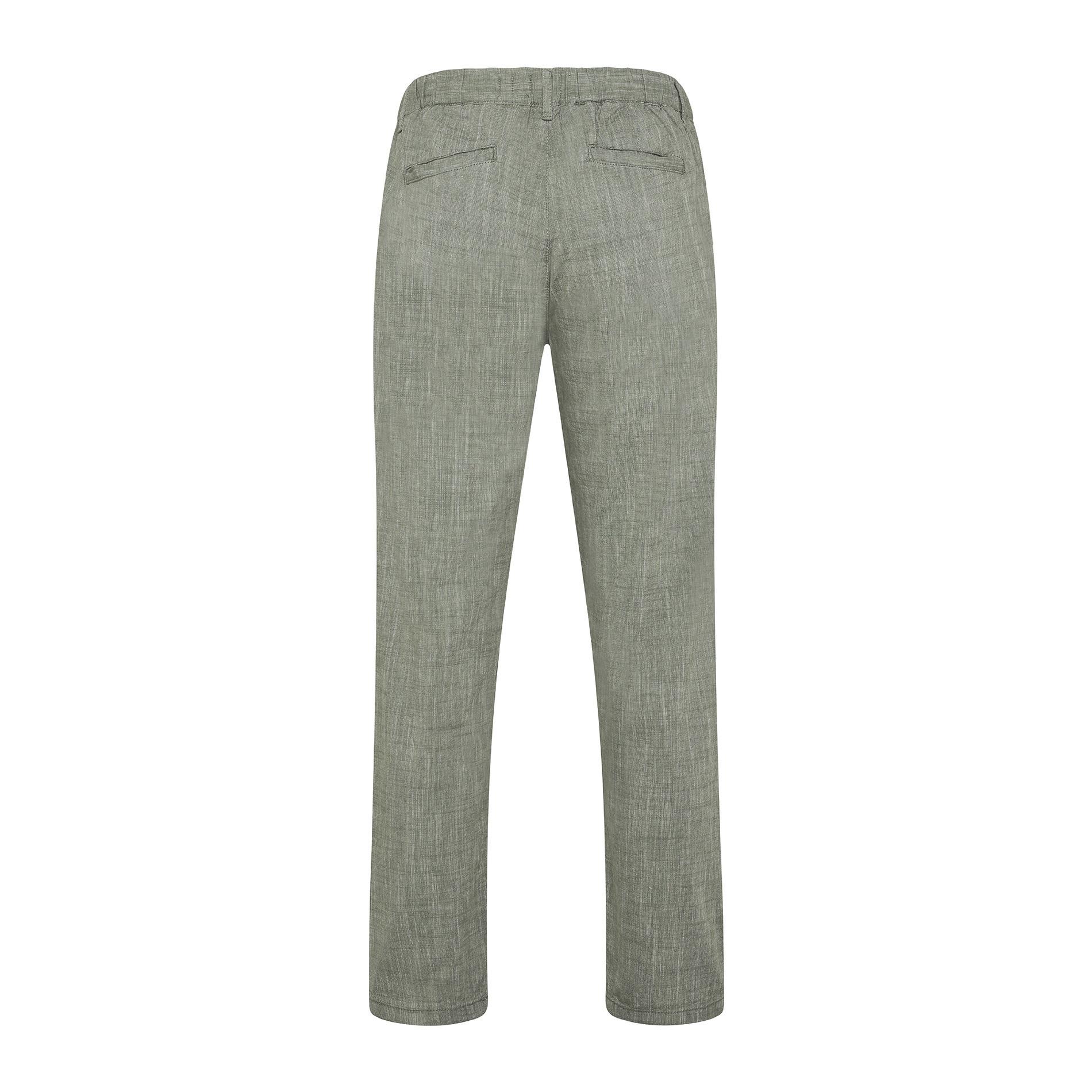 Pantalone puro cotone light JCT, Verde chiaro, large image number 1
