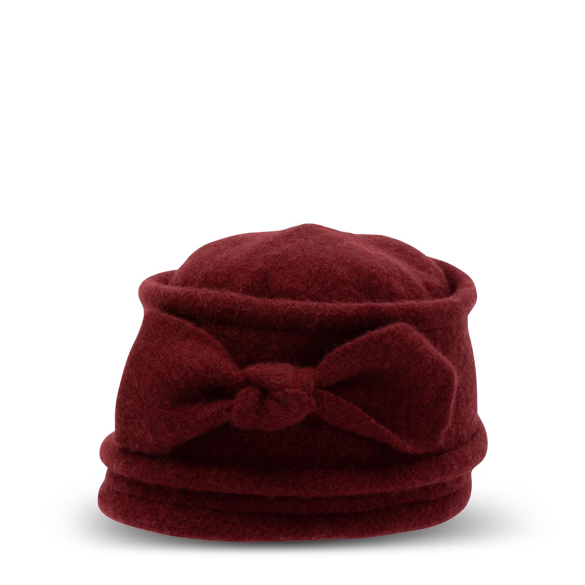 Berretto pura lana con fiocco Koan, Rosso scuro, large image number 0