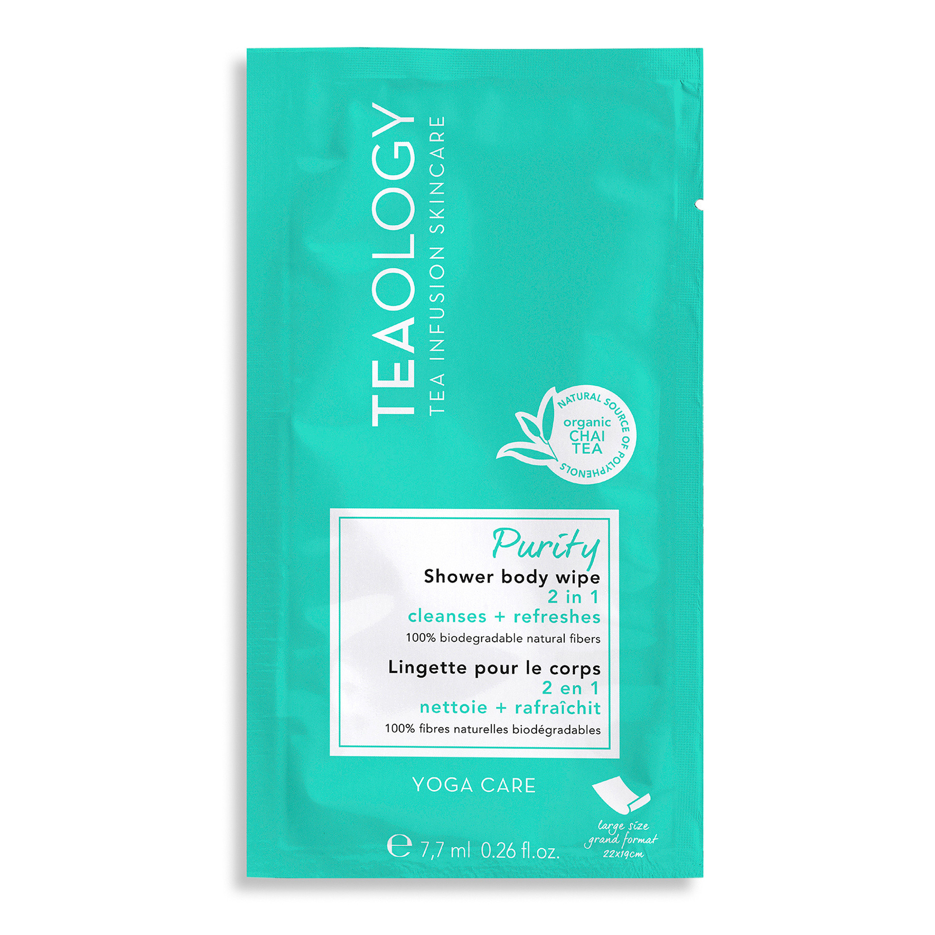 Teaology Purity Shower Body Wipe 7,7 ml, Azzurro, large image number 0