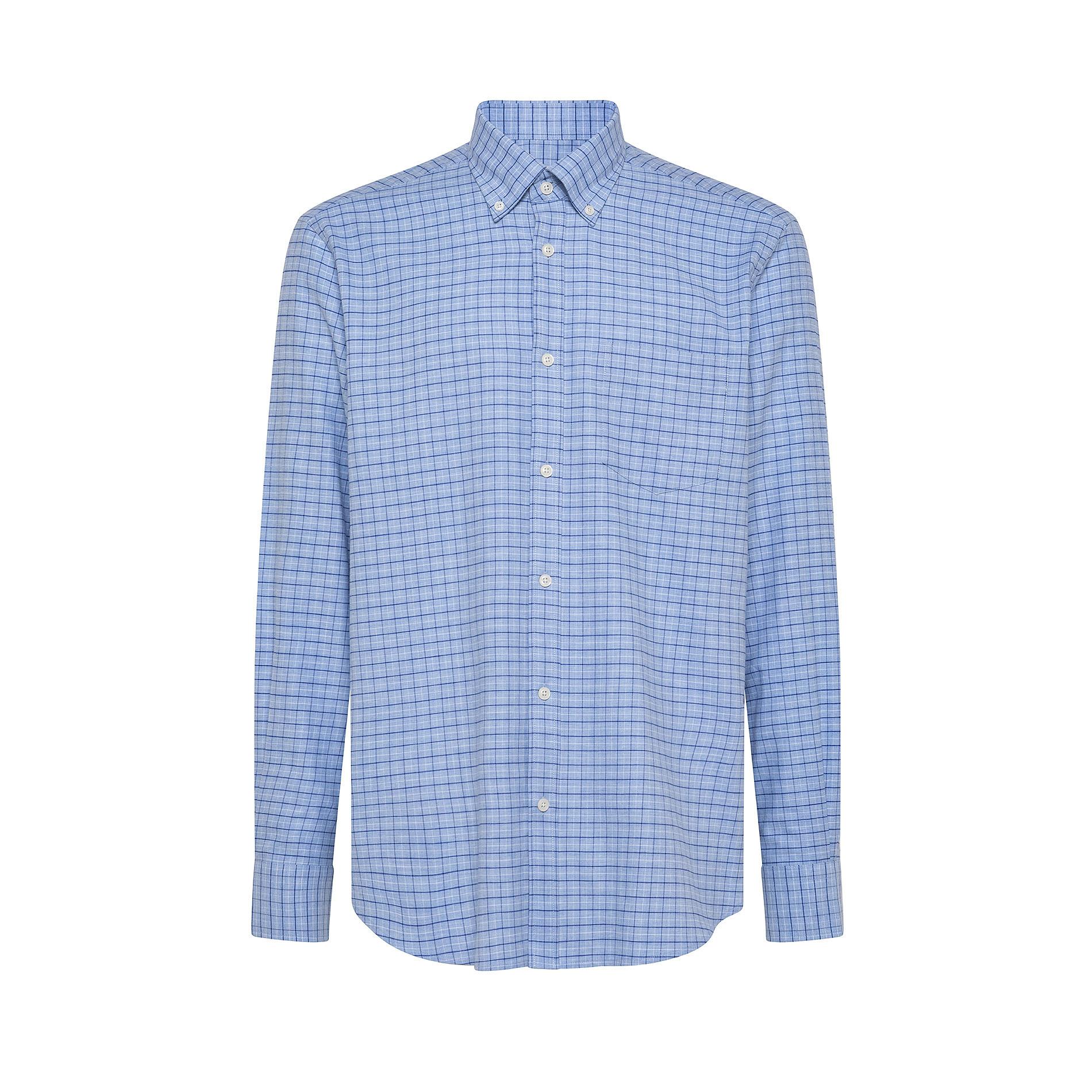 Camicia button-down regular fit in cotone organico, Azzurro, large image number 0