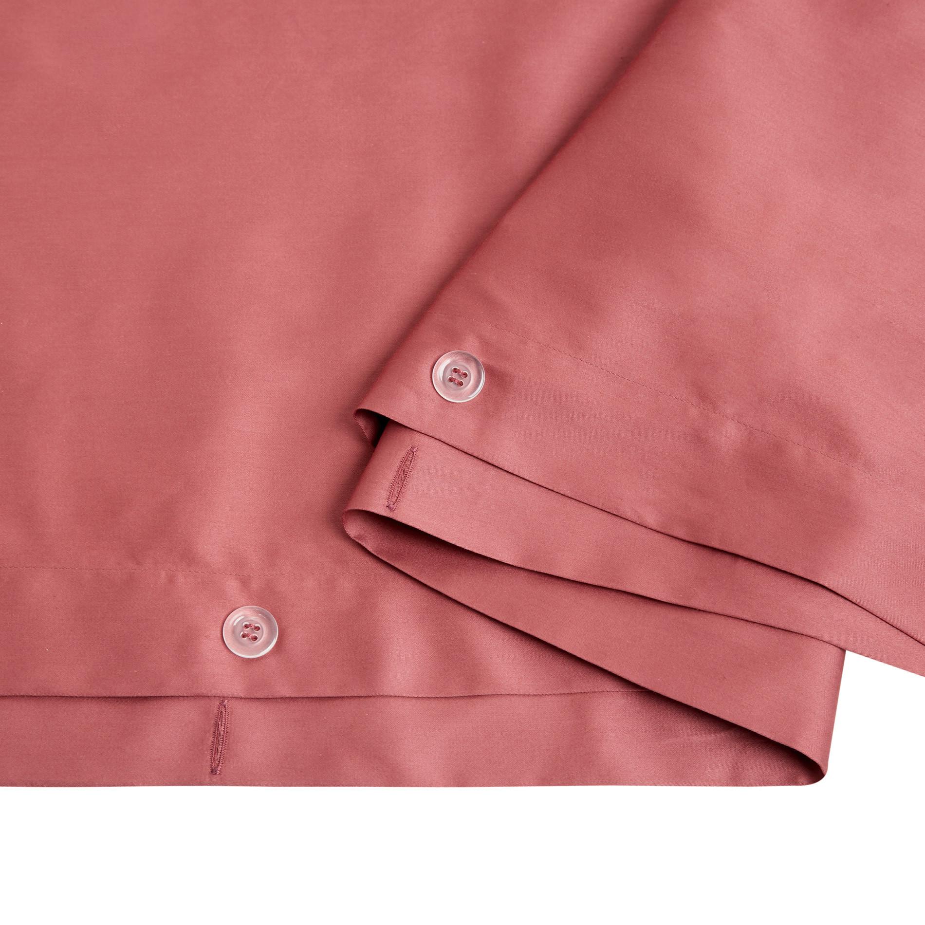 Parure copripiumino raso di puro cotone Zefiro, Rosa scuro, large image number 1