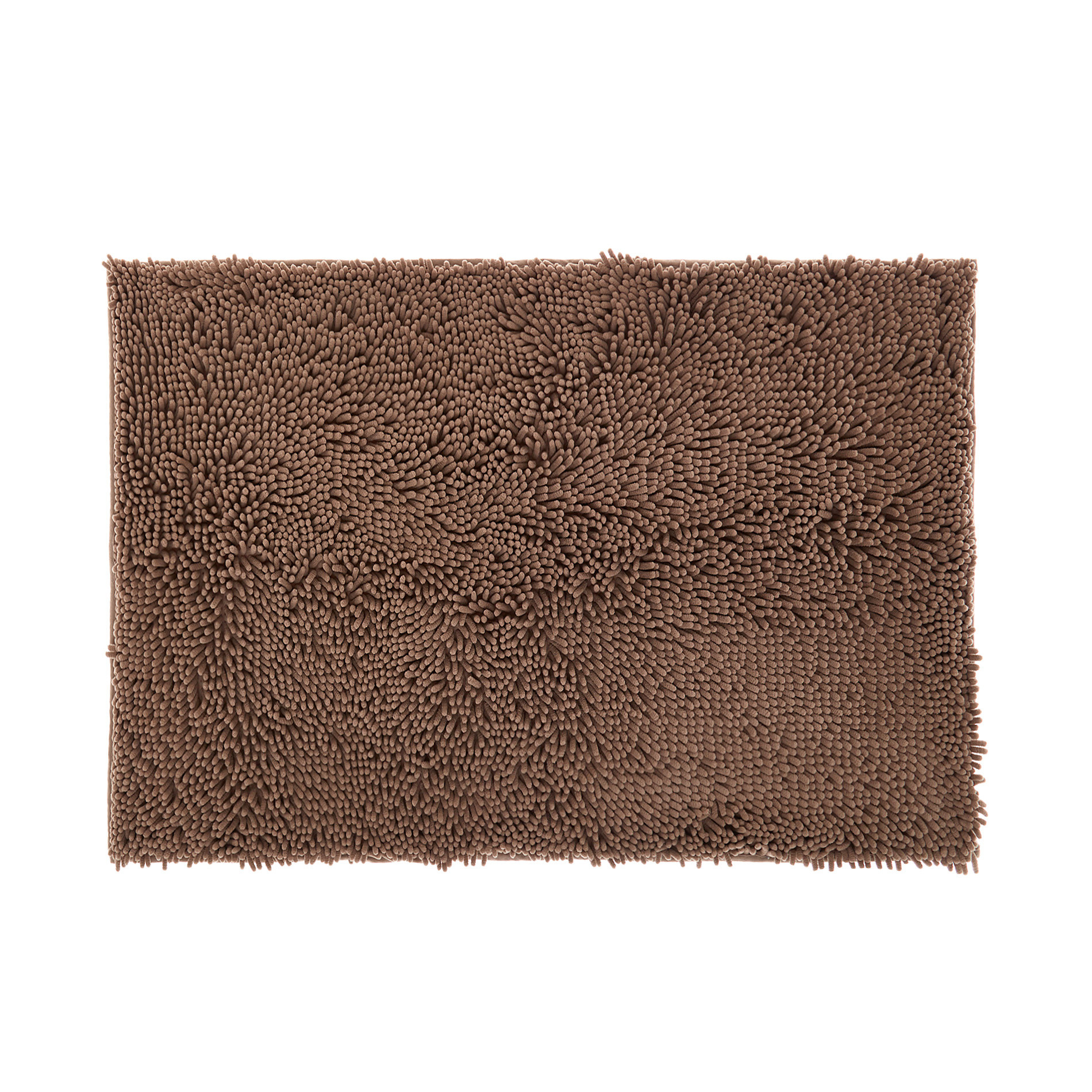 Tappeto bagno microfibra shaggy, Beige scuro, large image number 0