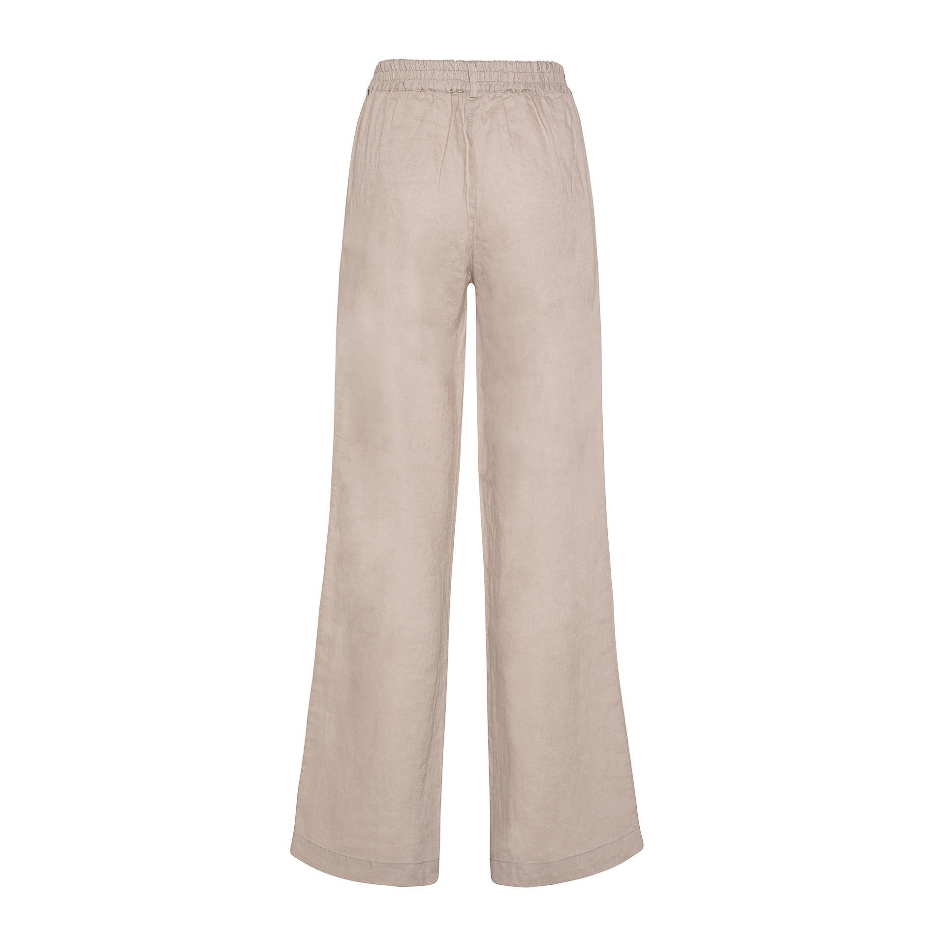 Pantalone morbido 100% lino Koan, Beige, large image number 0