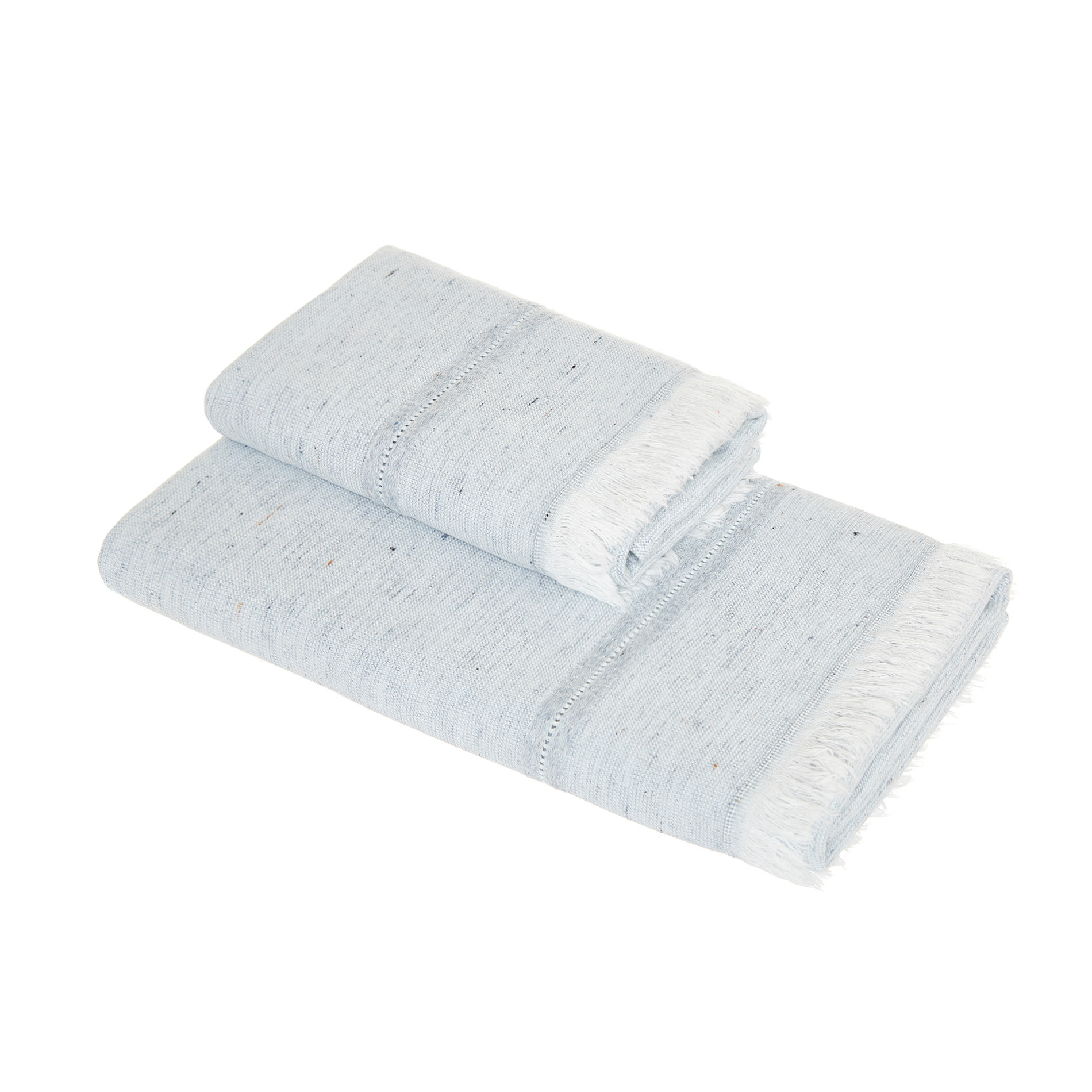 Asciugamano cotone e denim riciclato, Denim, large image number 0