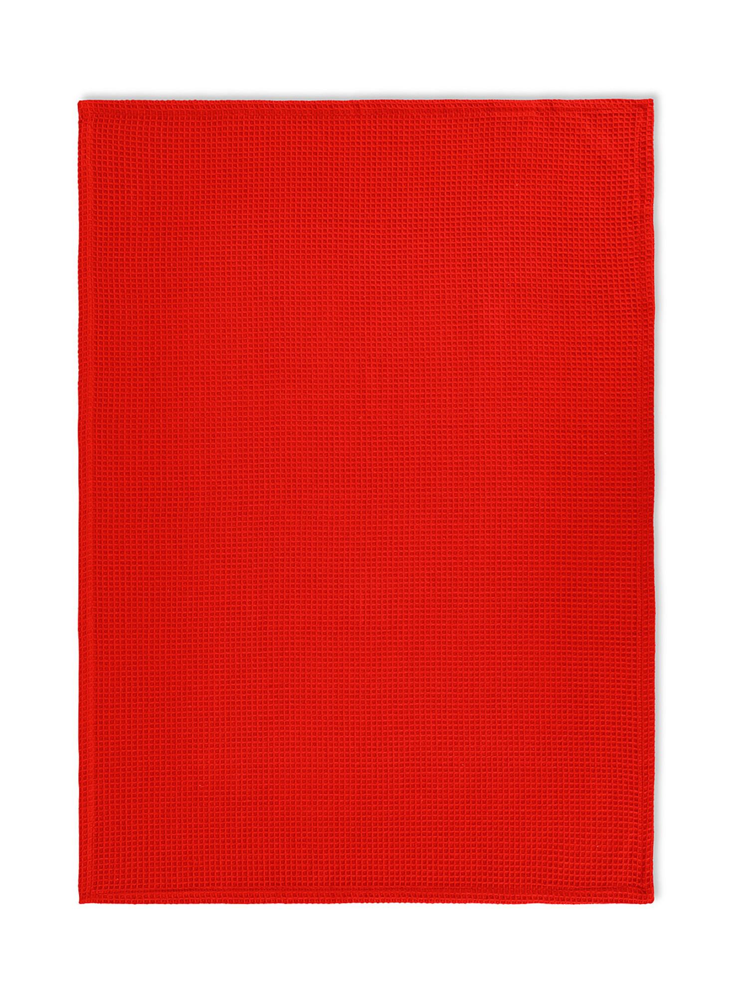 Set 3 strofinacci puro cotone organico stampa ortaggi, Blu scuro, large image number 1