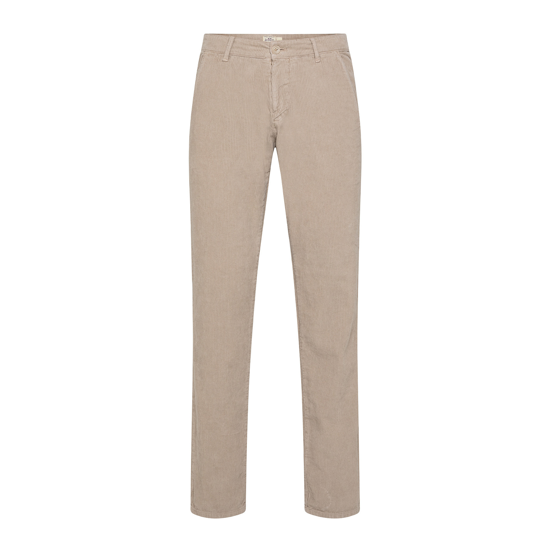 Pantaloni chino velluto stretch, Beige chiaro, large image number 0