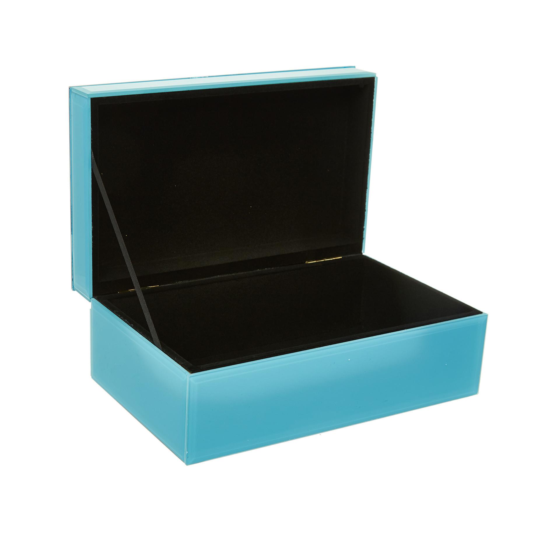 Portagioie vetro motivo occhiali, Azzurro, large image number 1