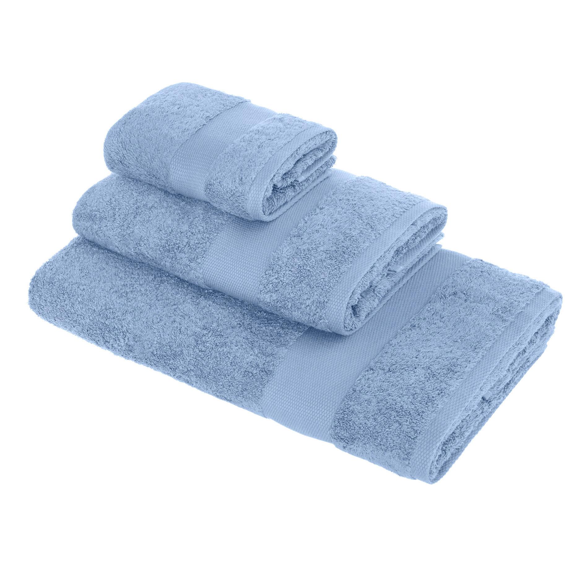 Asciugamano spugna di puro cotone Zefiro, Blu, large image number 0