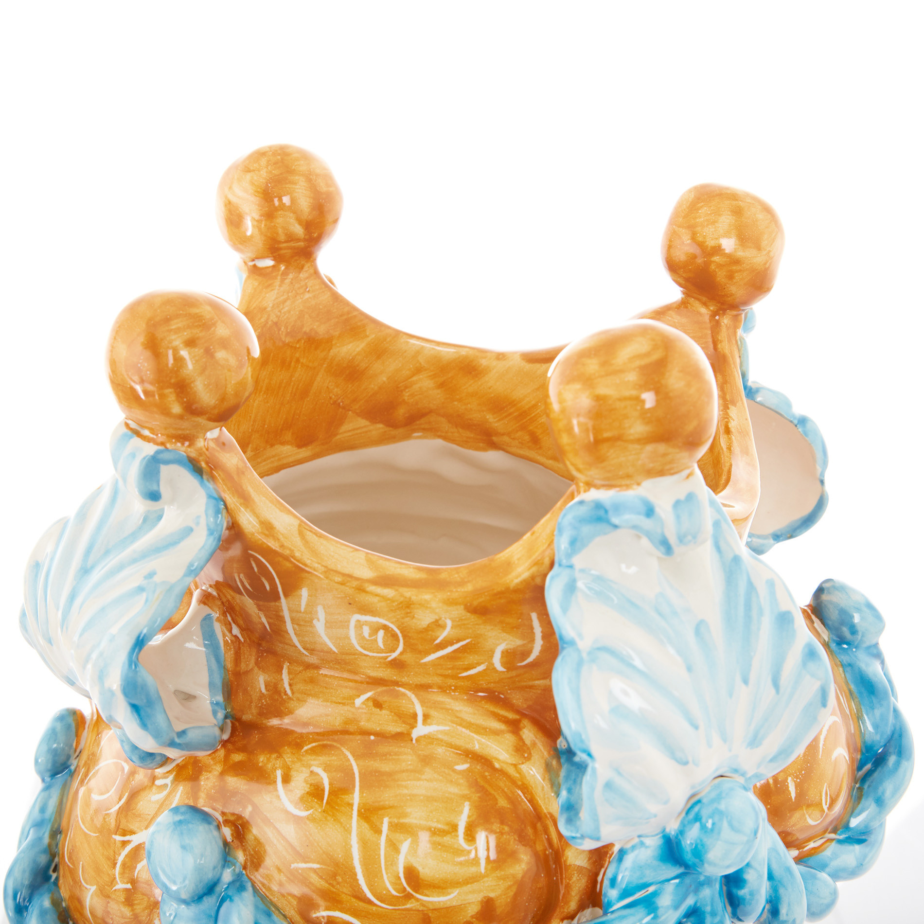 Testa di moro arabesque by Ceramiche Siciliane Ruggeri, Multicolor, large image number 4