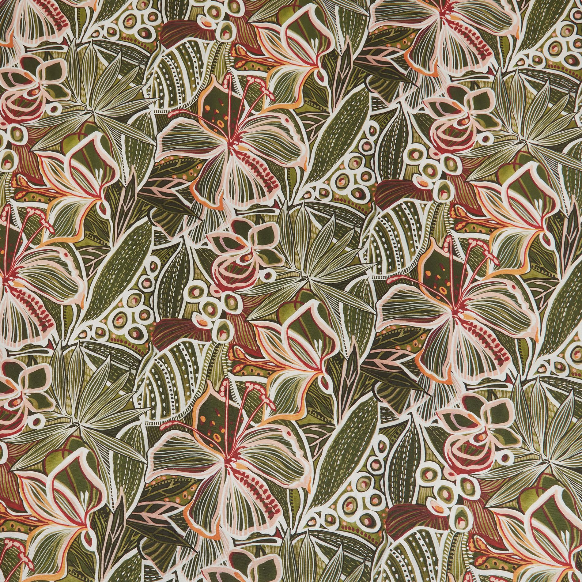 Tovaglia puro cotone stampa amazzonia, Verde scuro, large image number 1
