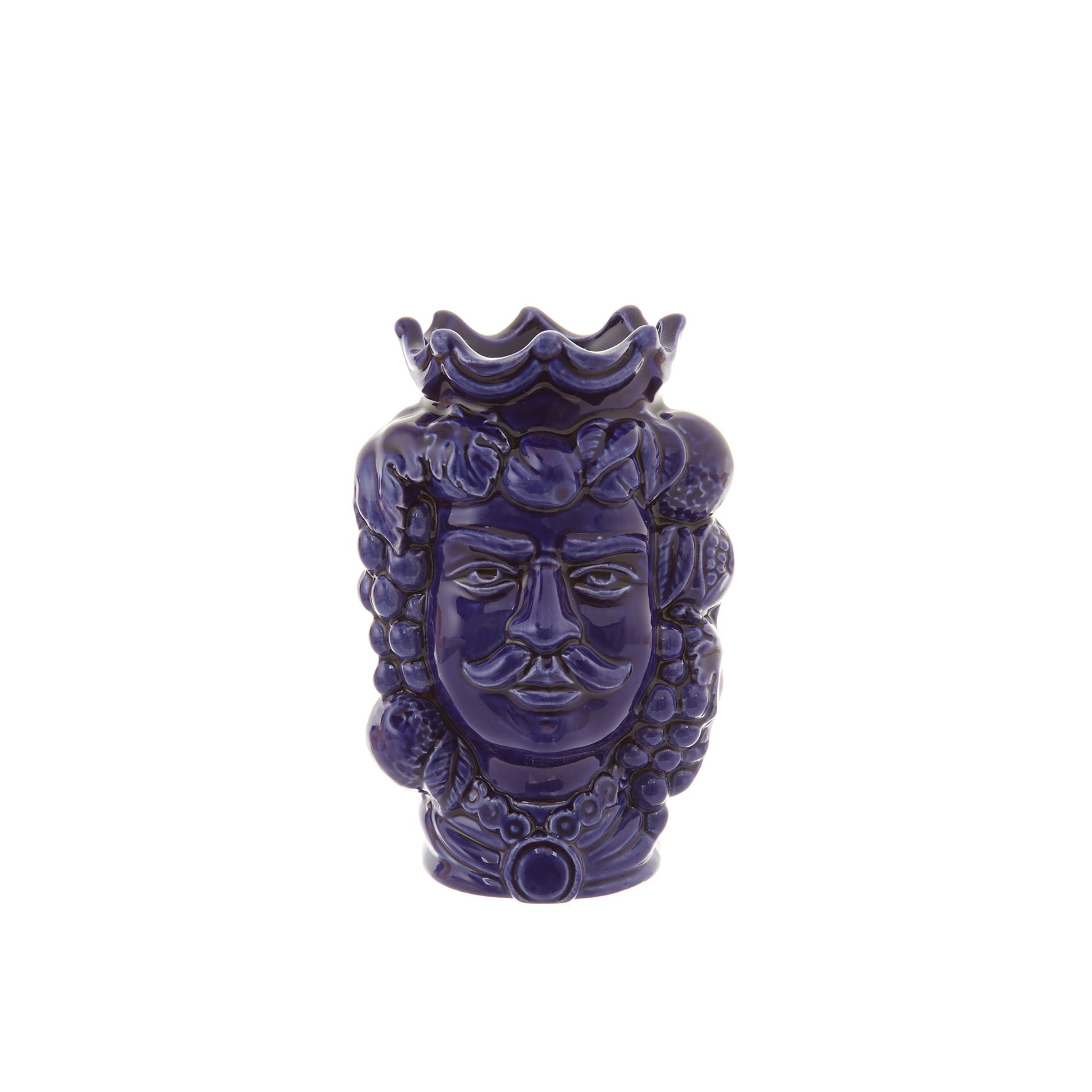Testa di moro by Ceramiche Siciliane Ruggeri, Blu, large image number 0