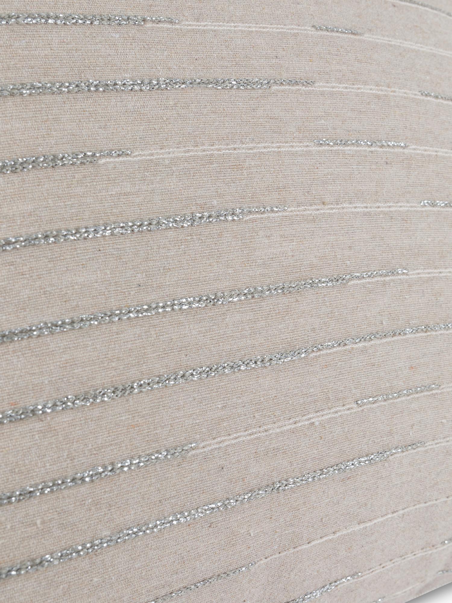 Cuscino tessuto jacquard lurex 35x55cm, Multicolor, large image number 2