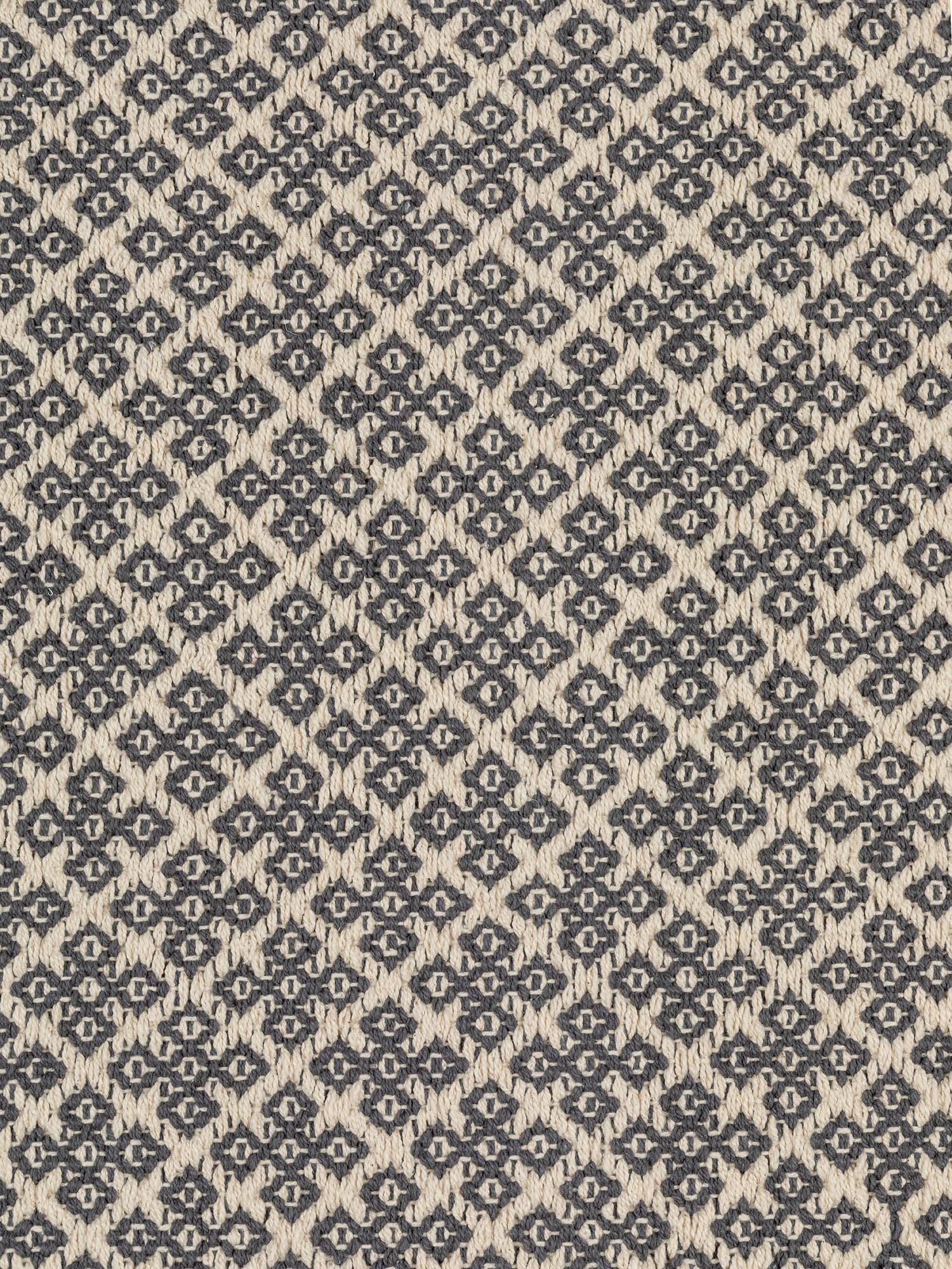 Tappeto tessuto a mano motivo geometrico, Grigio, large image number 1