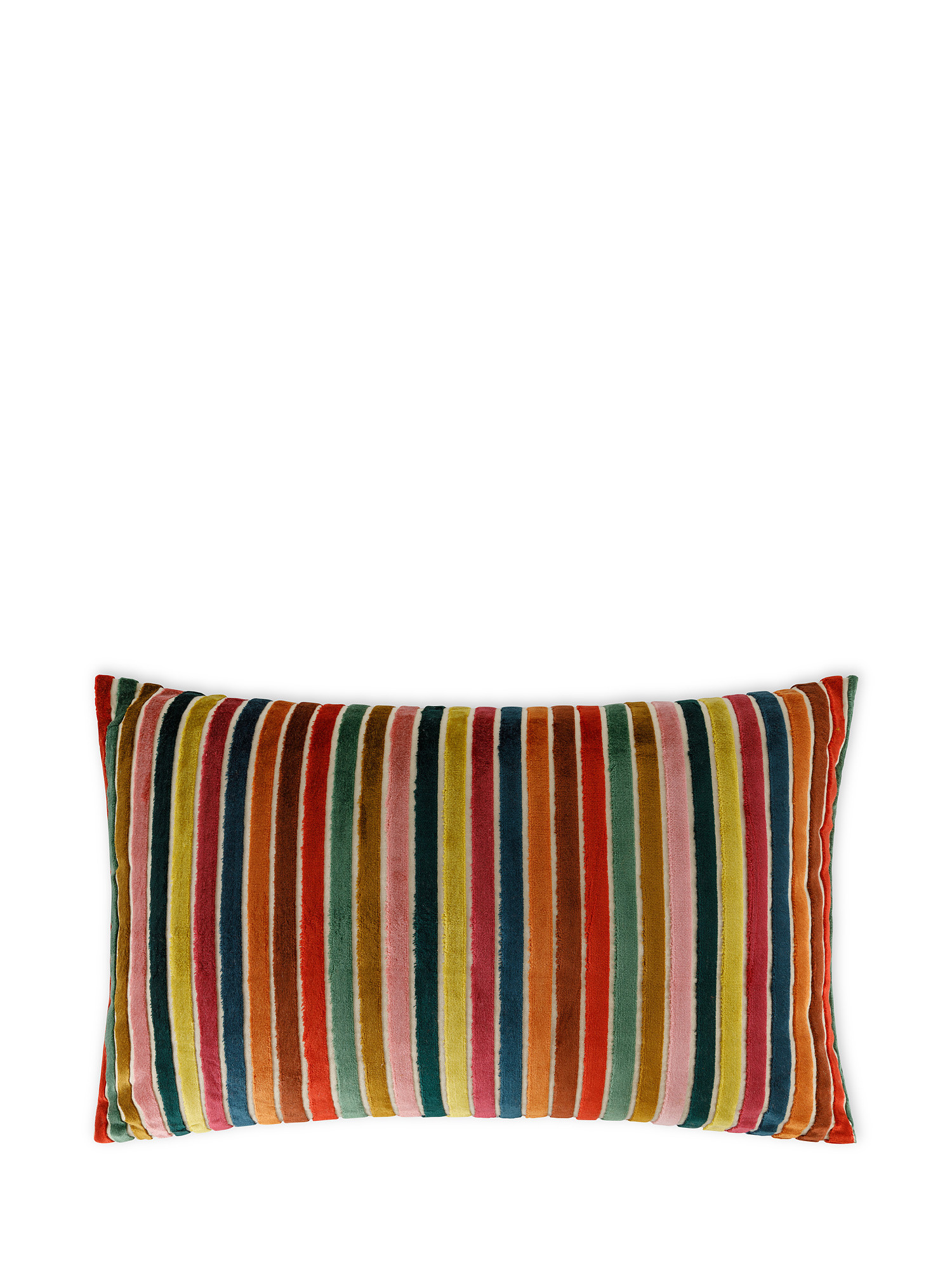 Cuscino jacquard a righe 35x55cm, Multicolor, large image number 1