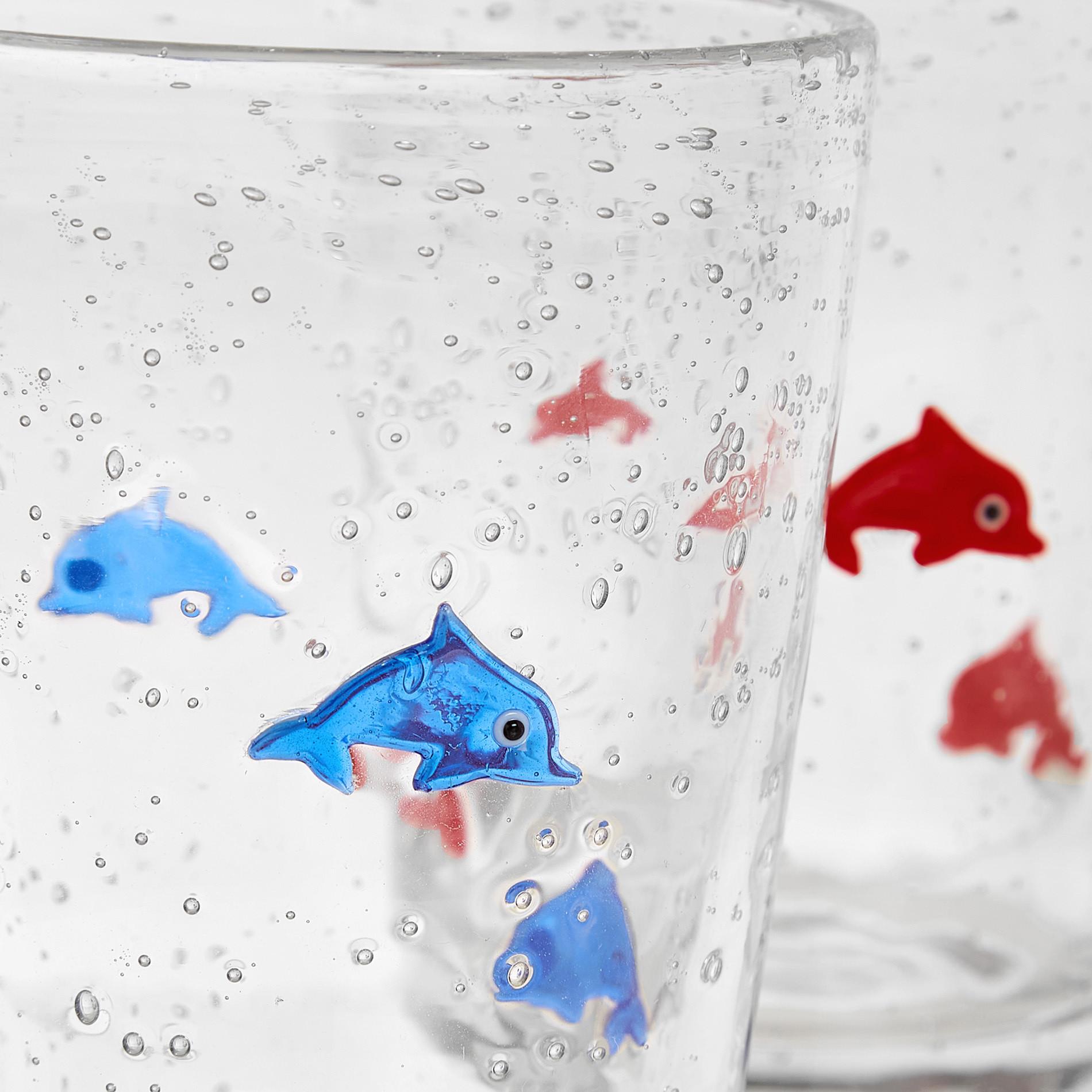 Bicchiere vetro decoro murrine, Trasparente, large image number 1
