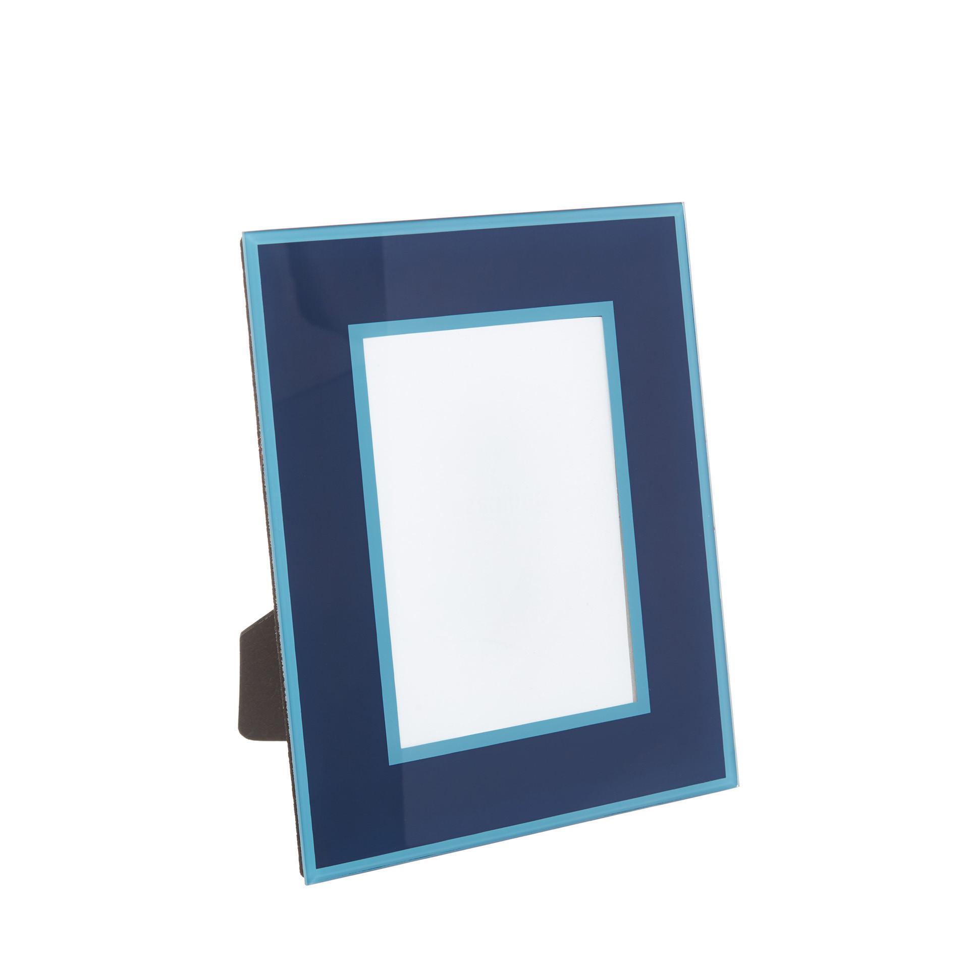 Portafoto cornice vetro colorato, Blu, large image number 0