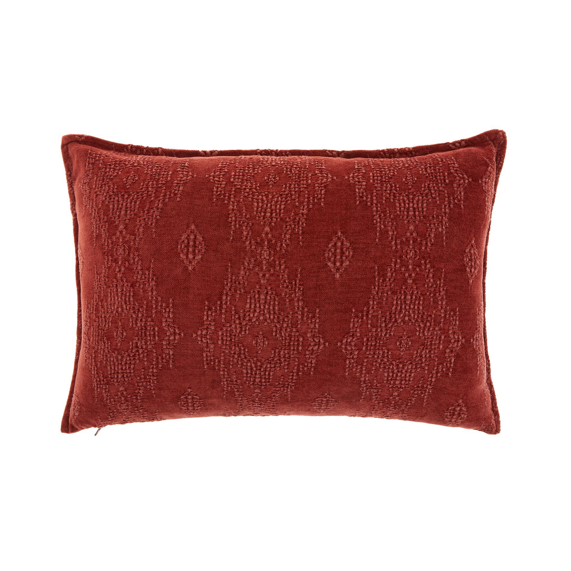 Cuscino tessuto stonewashed 35x55cm, Marrone, large image number 0