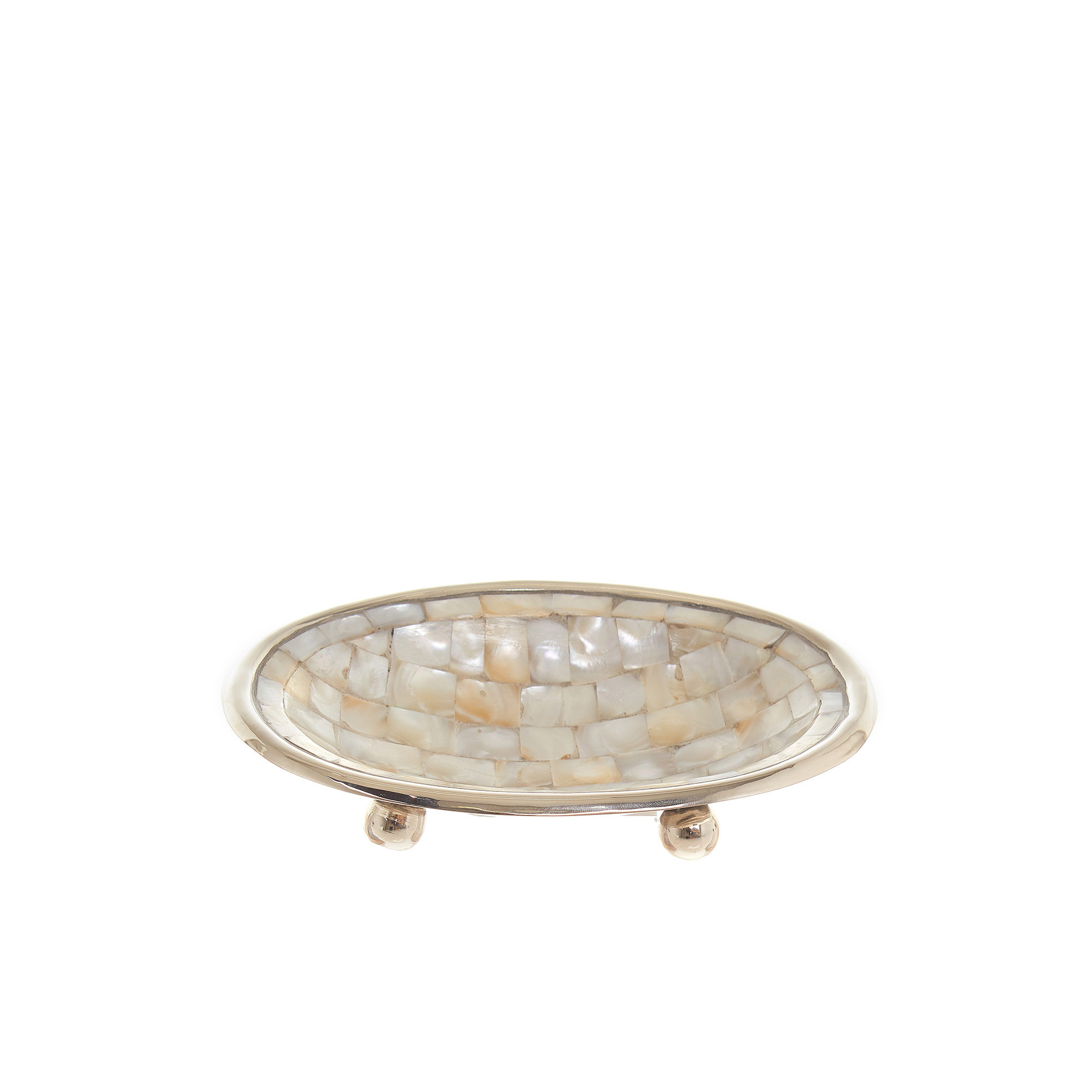 Portasapone madreperla mosaico, Marrone nocciola, large image number 0