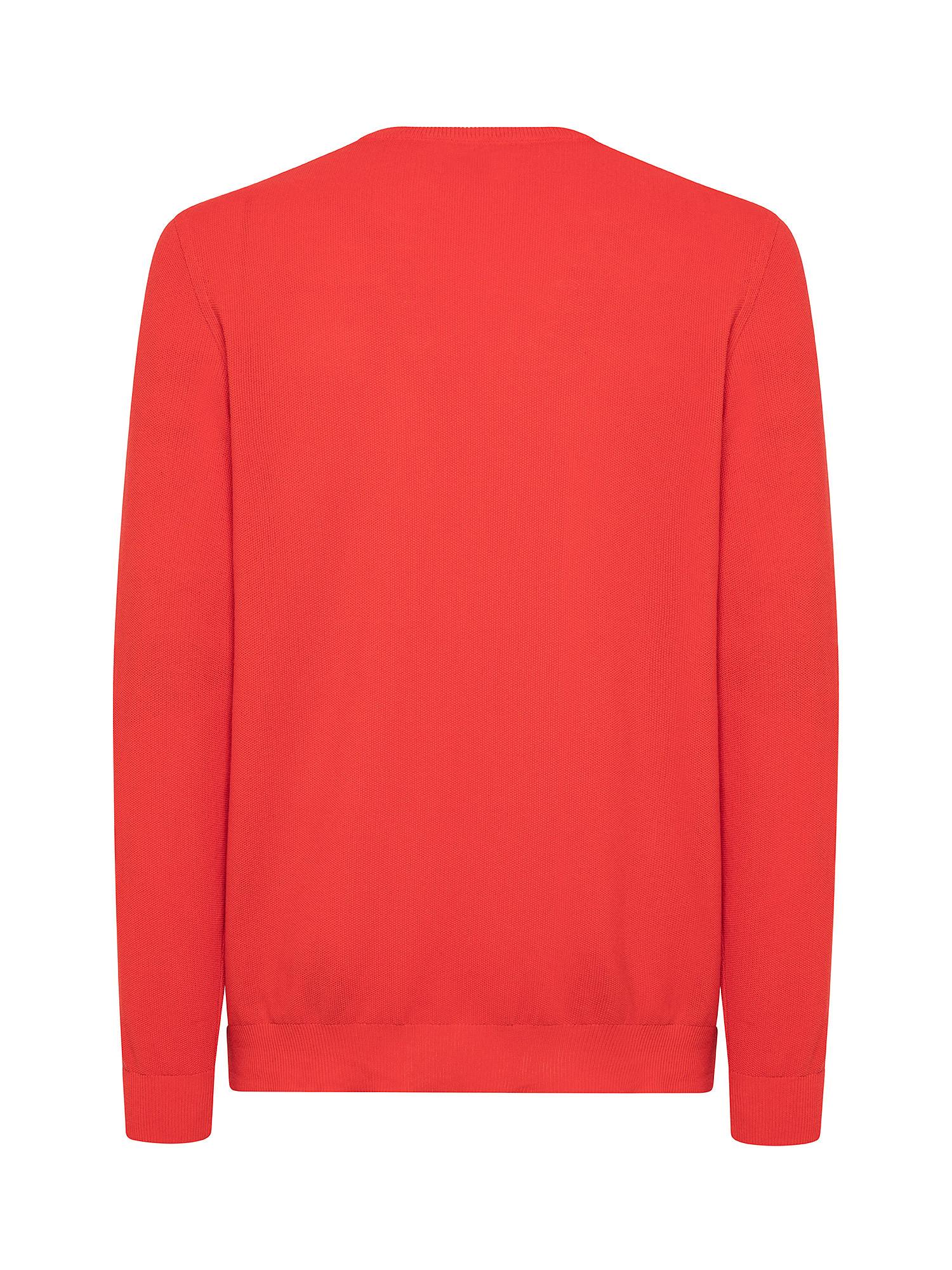 Maglia girocollo in cotone, Rosso corallo, large image number 1