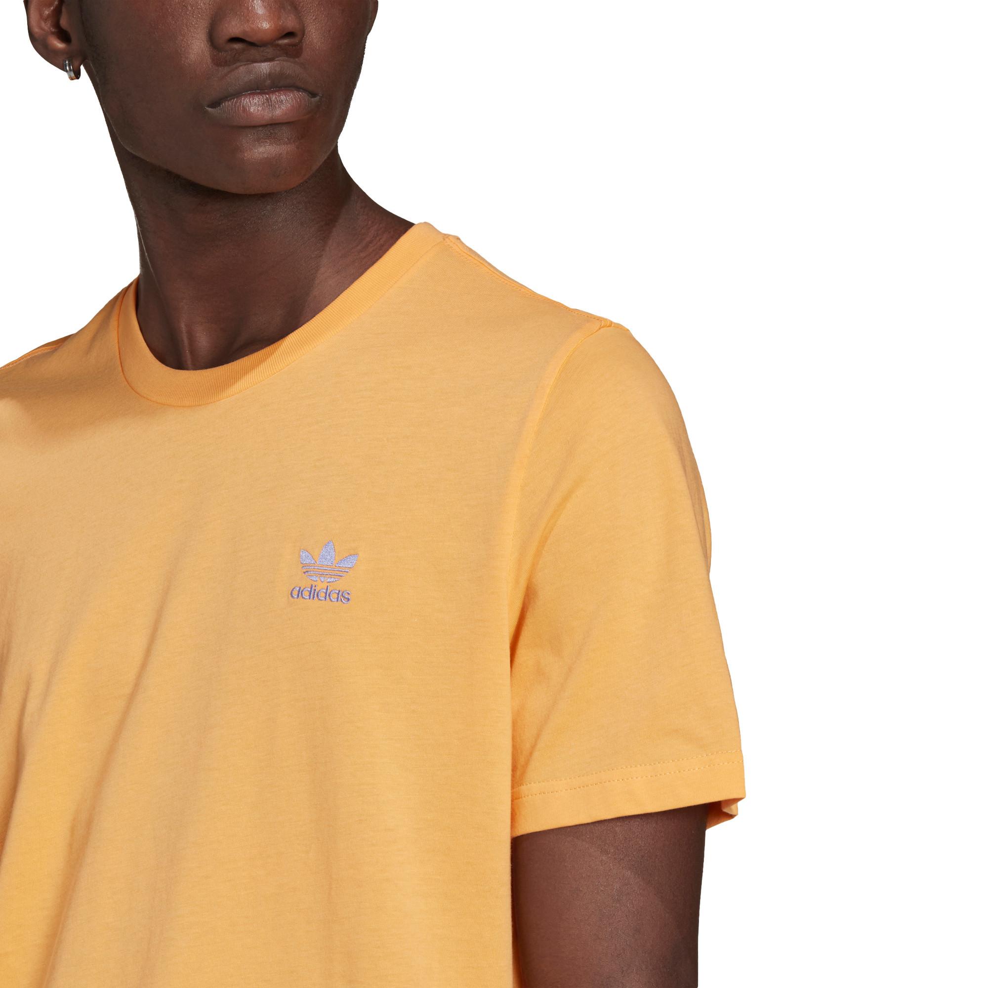 T-shirt loungewear adicolor trefoil essentials, Arancione, large image number 5
