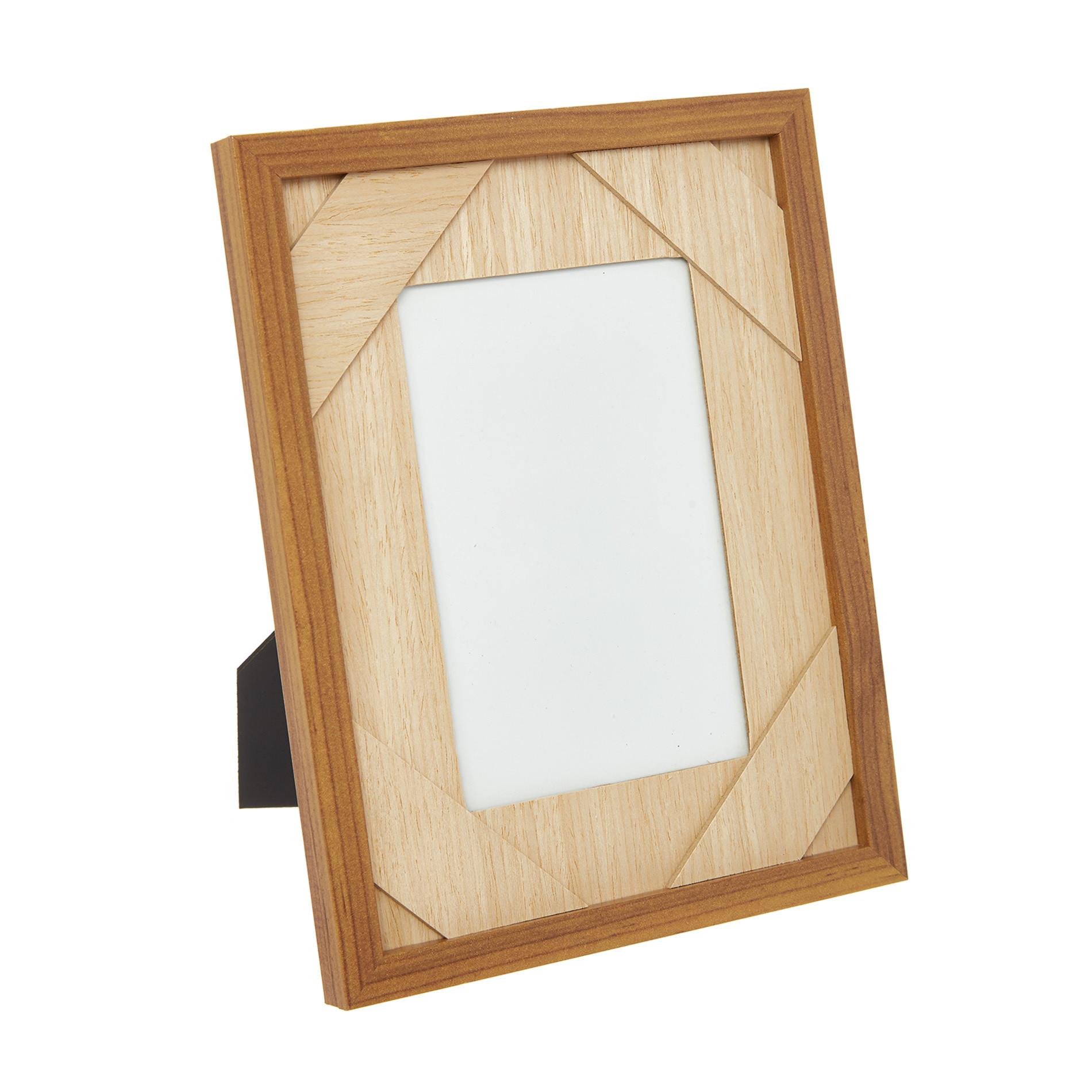 Portafoto effetto legno, Naturale, large image number 0