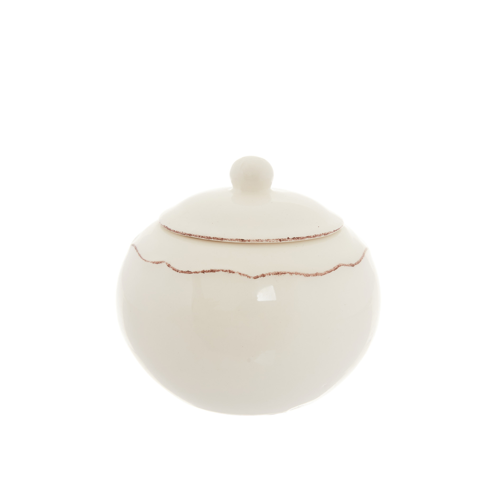 Zuccheriera ceramica Dona Maria, Bianco panna, large image number 0