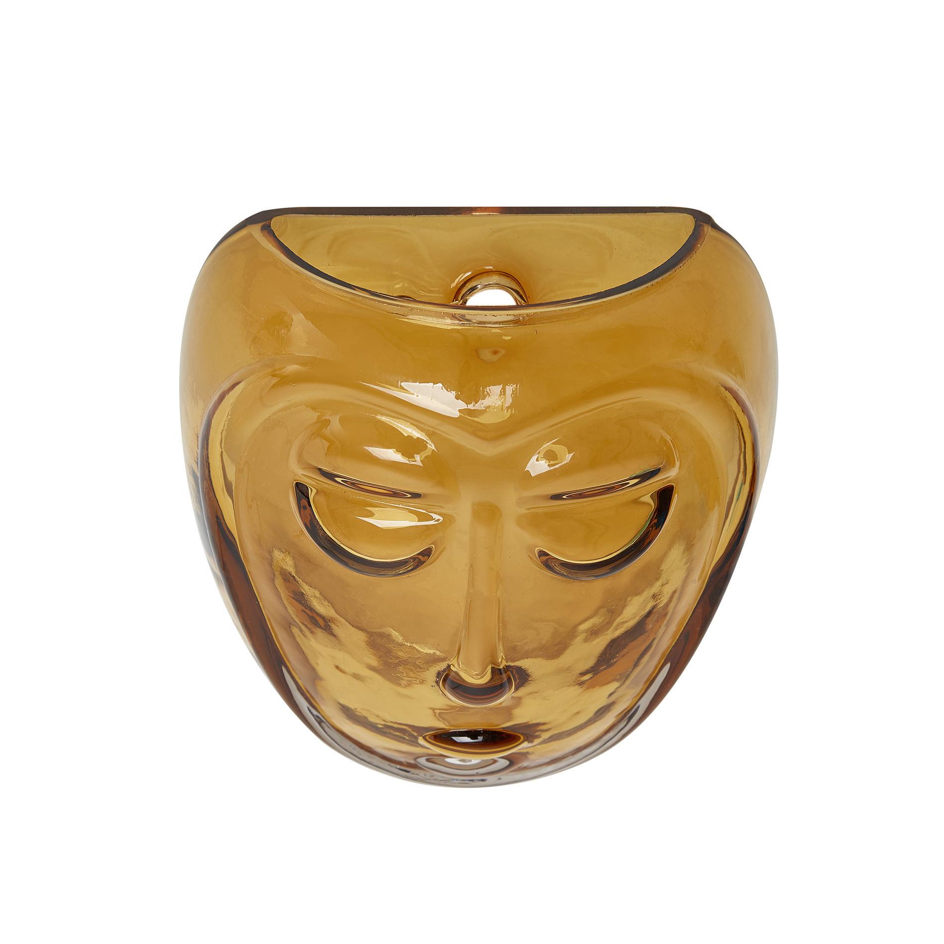 Maschera decorativa vetro colorato in pasta, Trasparente, large image number 0