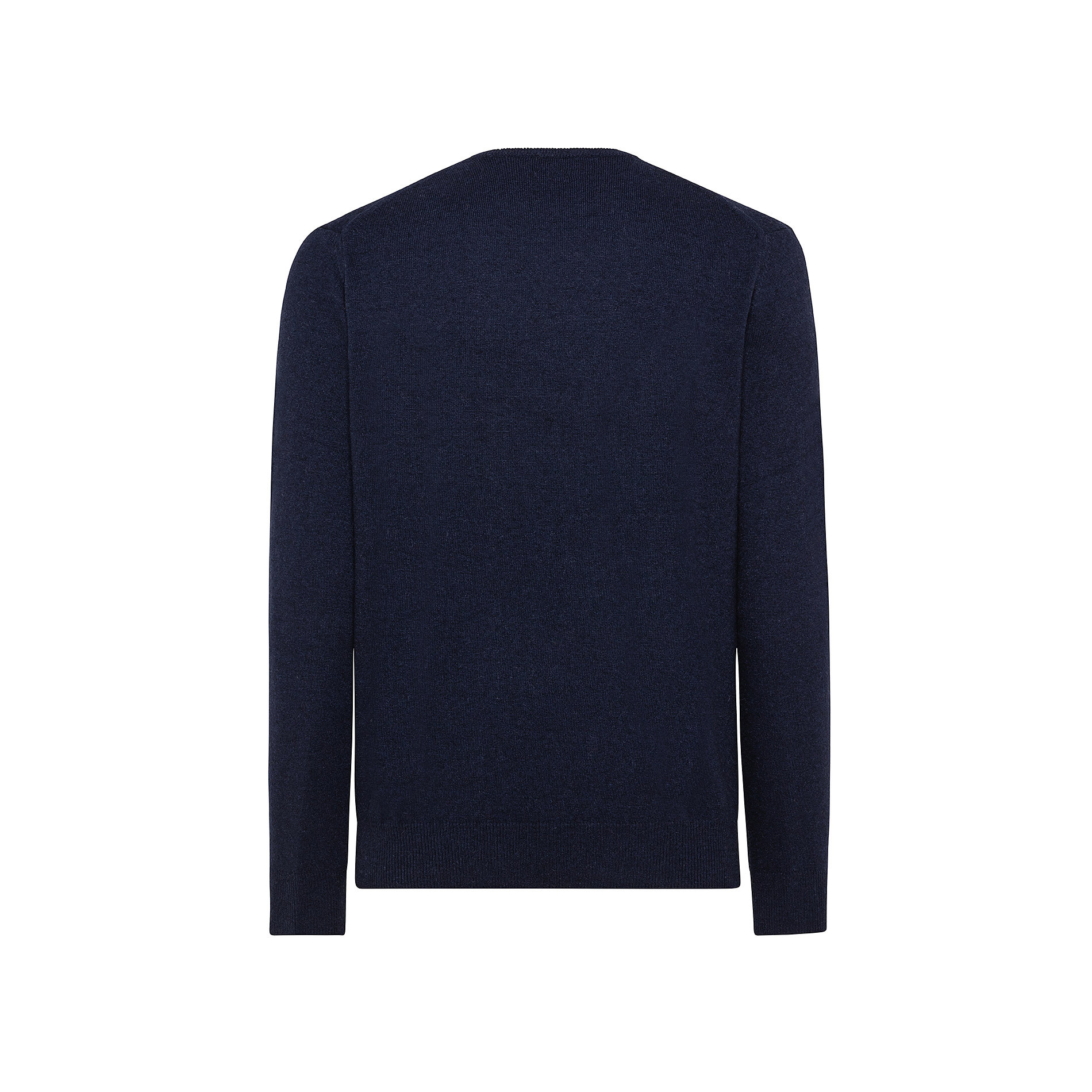 Pullover girocollo in cashmere blend, Blu, large image number 1