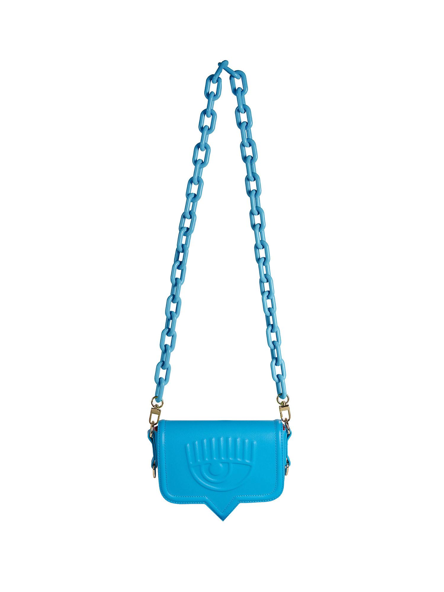 Small Eyelike Bag, Azzurro, large image number 0