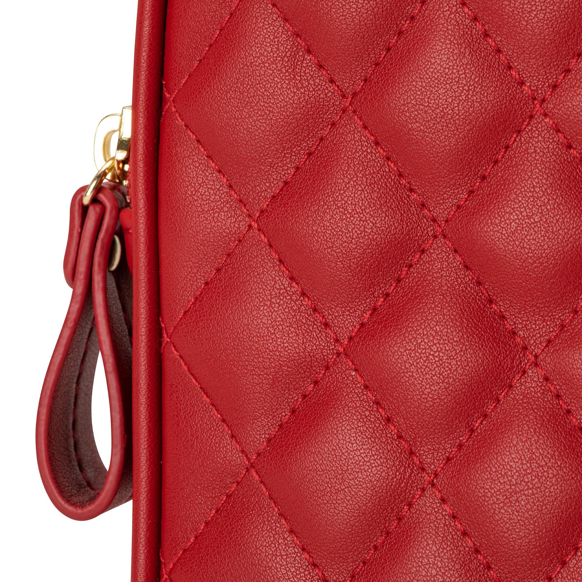 Porta smartphone effetto trapuntato Koan, Rosso scuro, large image number 2