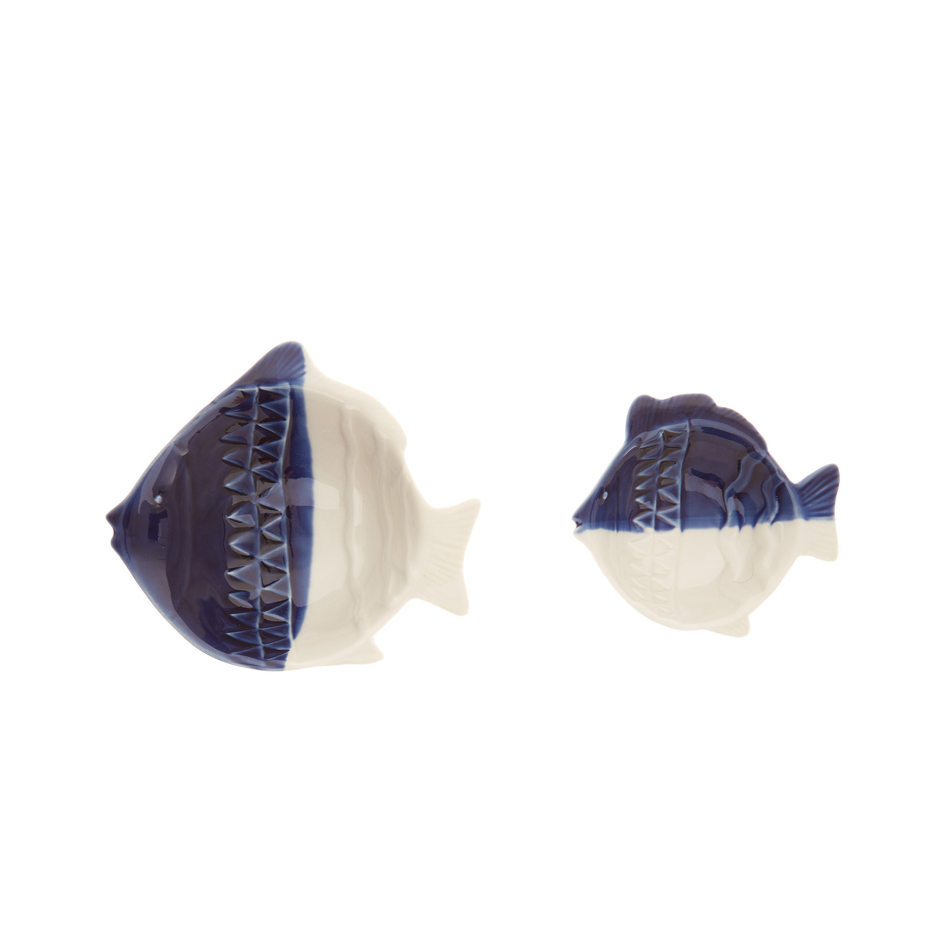 Coppetta porcellana a pesce, Bianco/Blu, large image number 1