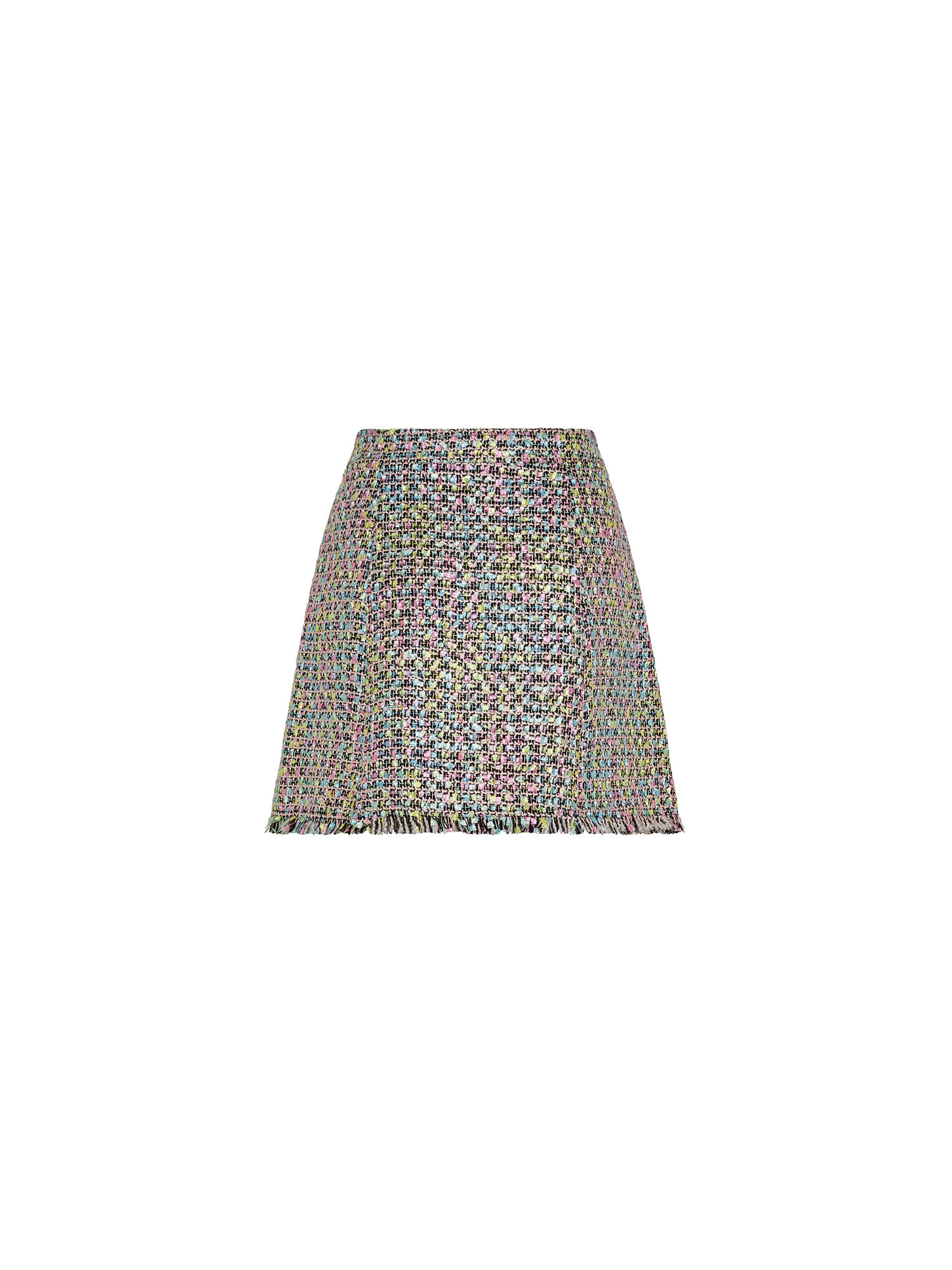 Gonna svasata in tweed multicolor, Multicolor, large image number 1
