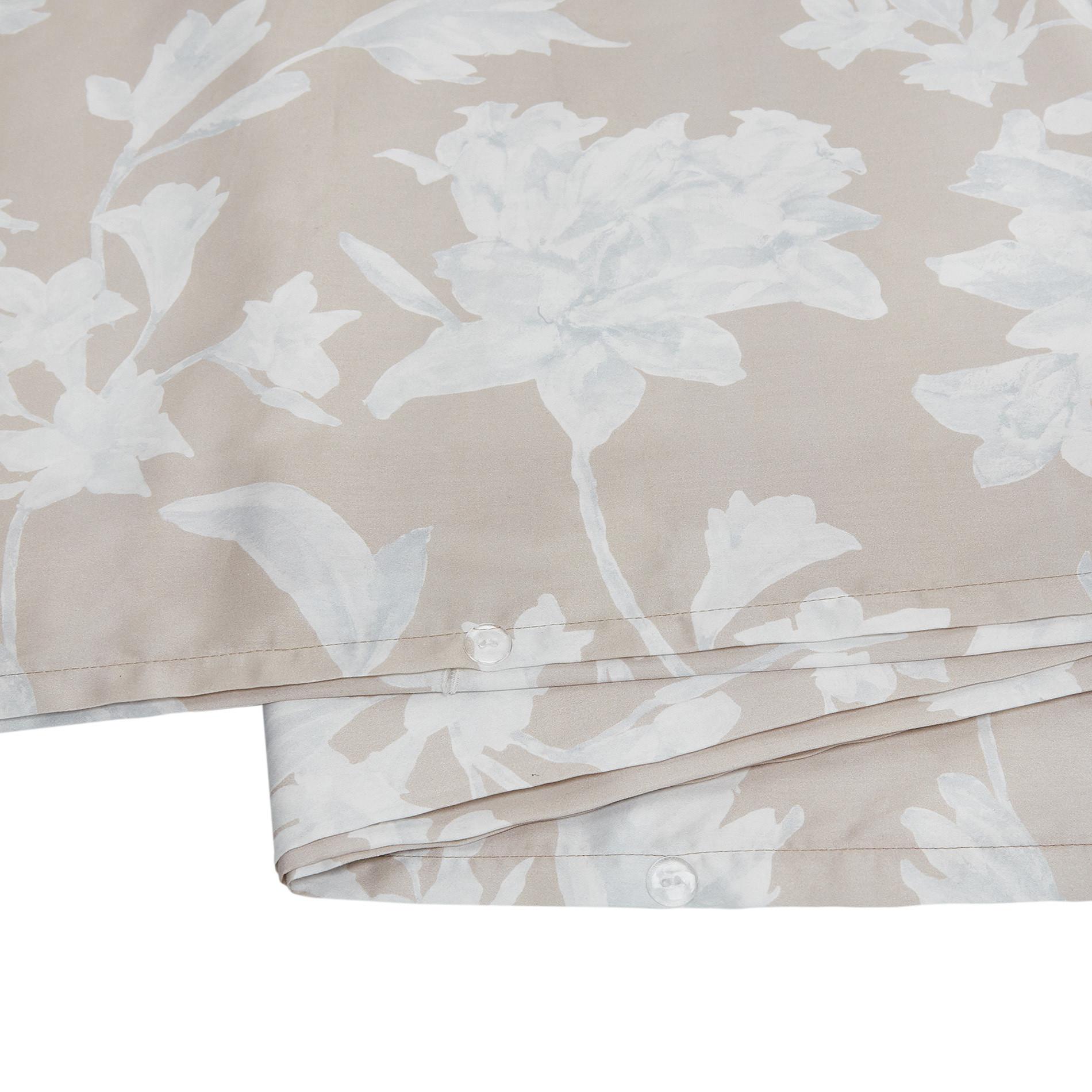 Copripiumino raso di cotone motivo floreale Portofino, Beige, large image number 3