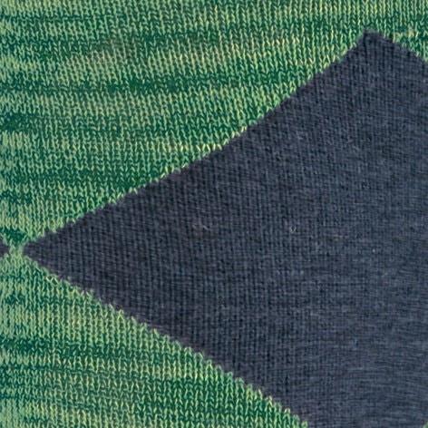 Calzini uomo Multicolour Clyde, Verde smeraldo, large image number 2