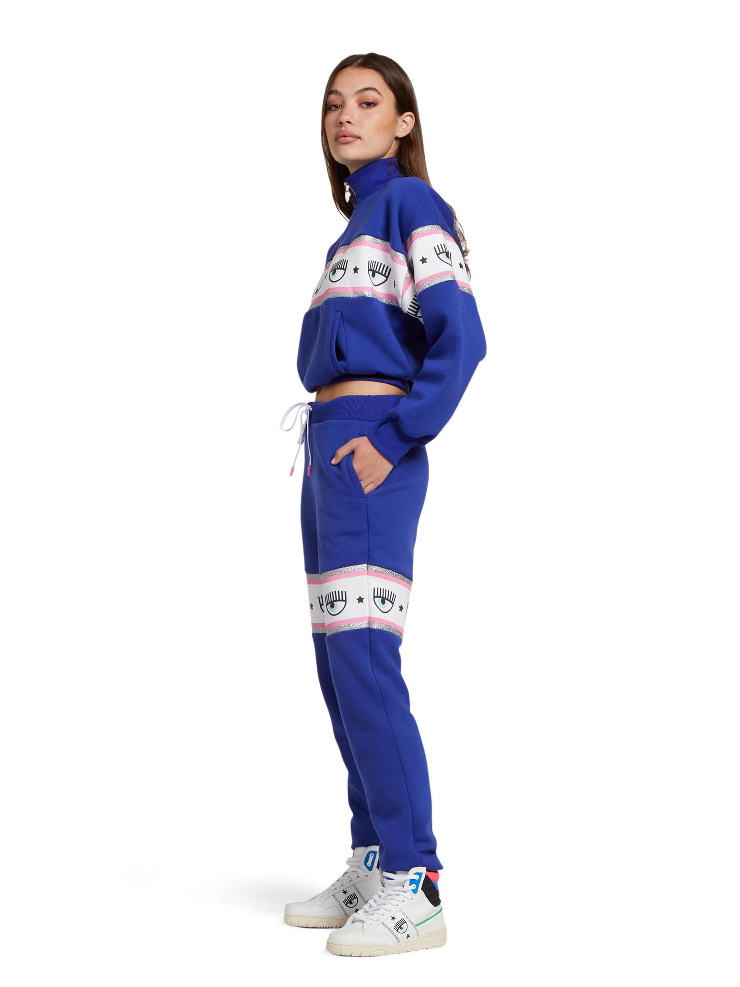Pantalone tuta Logomania, Blu, large image number 1